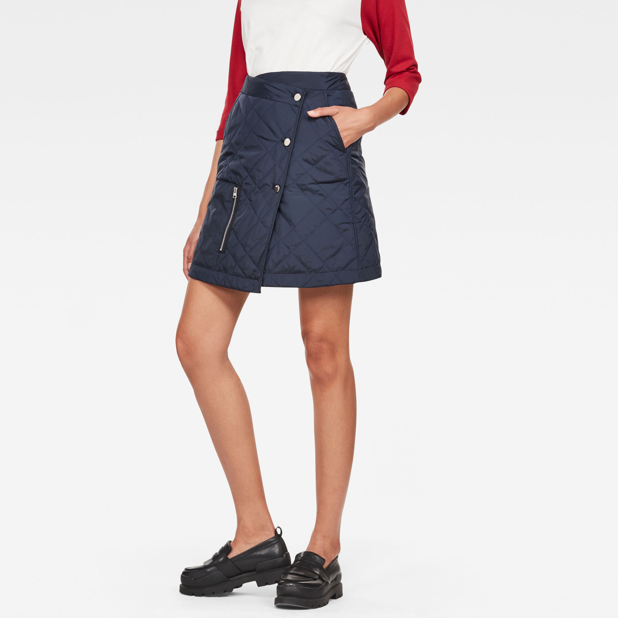 Image of G Star Raw Powel Quilted Wrap Skirt