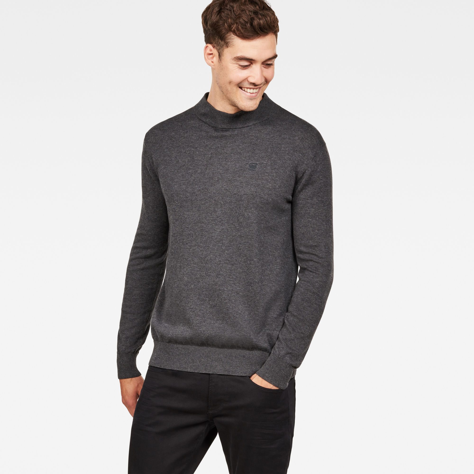 Image of G Star Raw Core Mock Turtle Knit