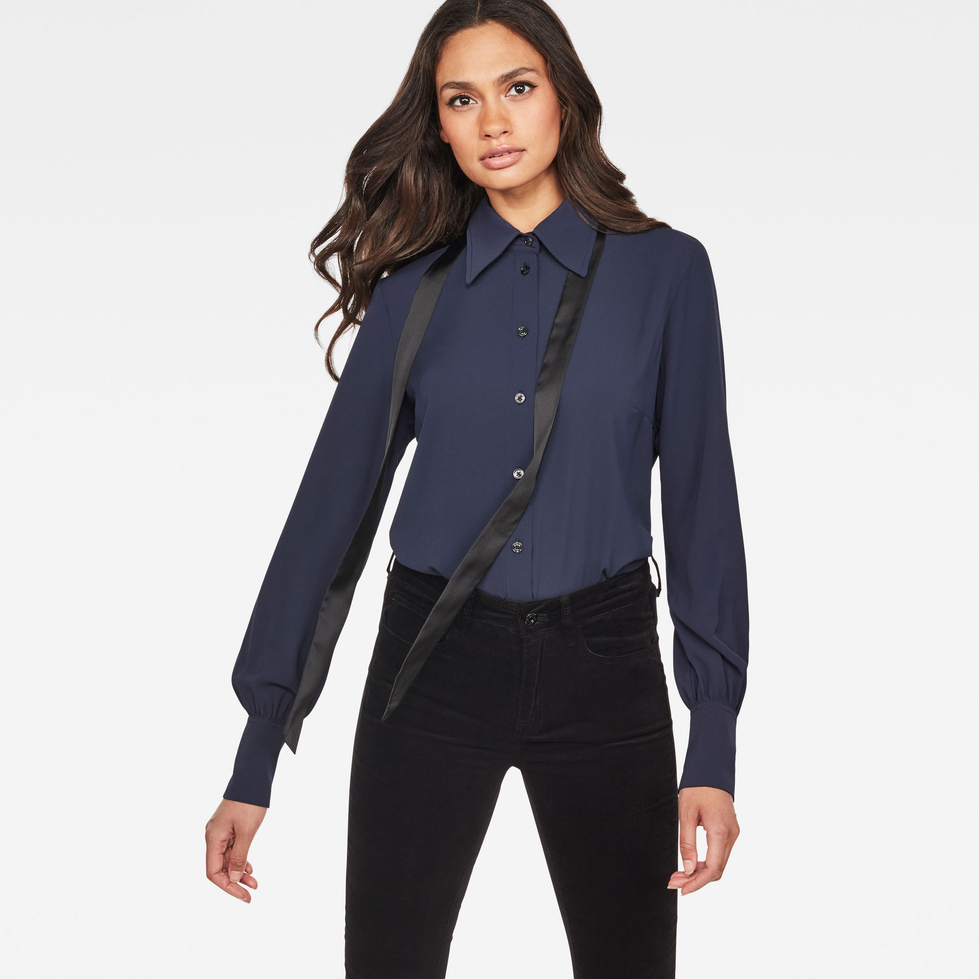 Image of G Star Raw Core Slim Bow Blouse