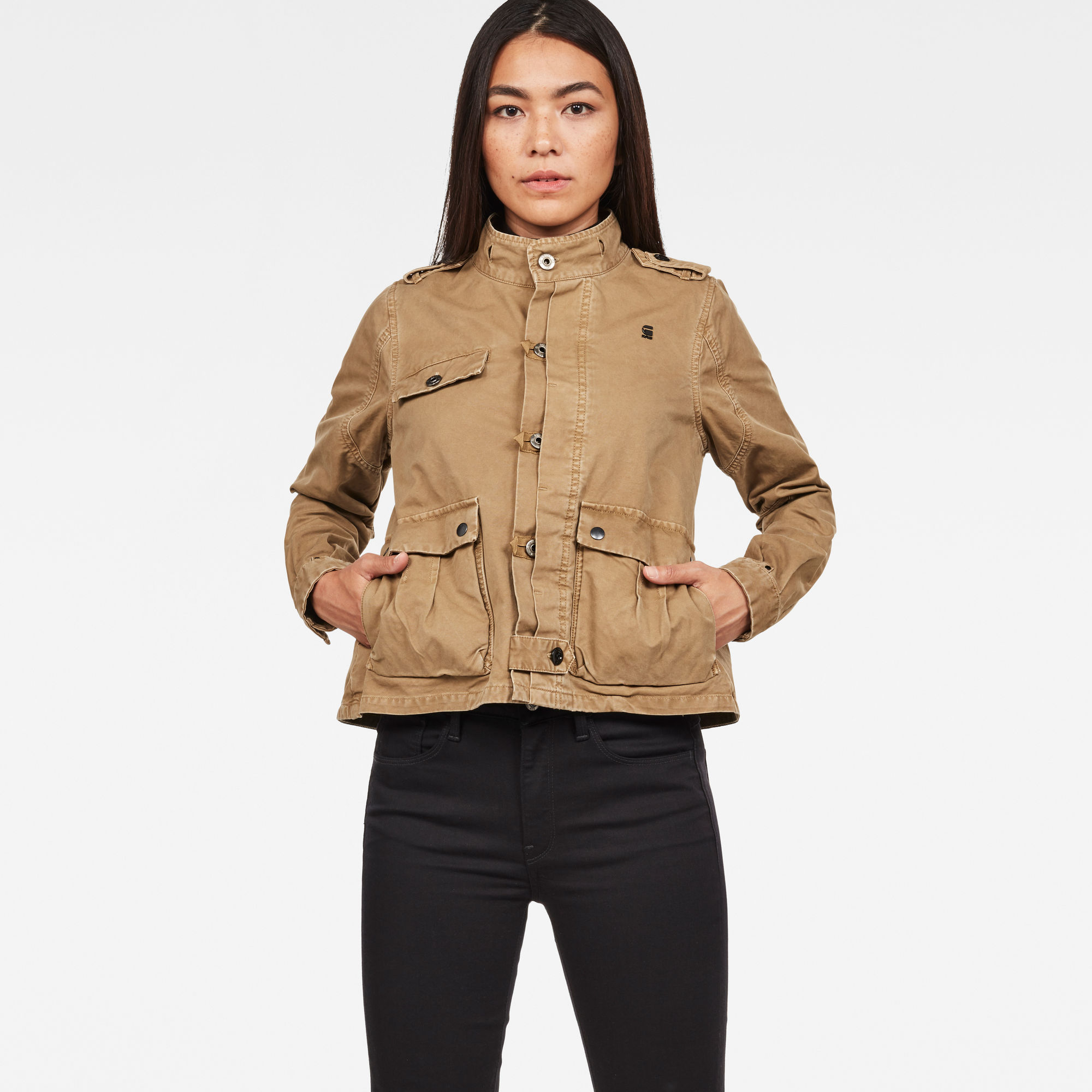 Image of G Star Raw Officer Cropped Jacket