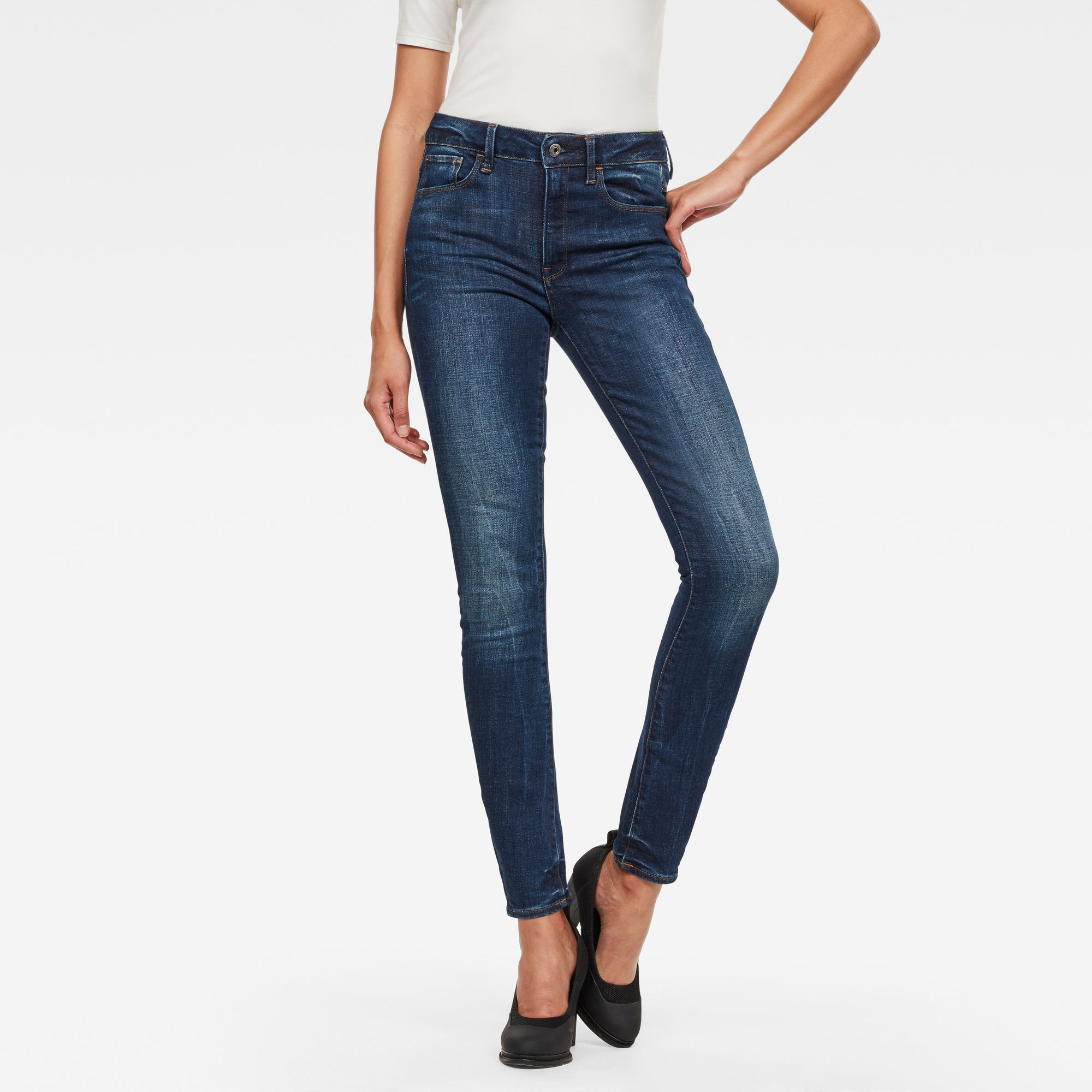 3301 D-High Waist Skinny Jeans