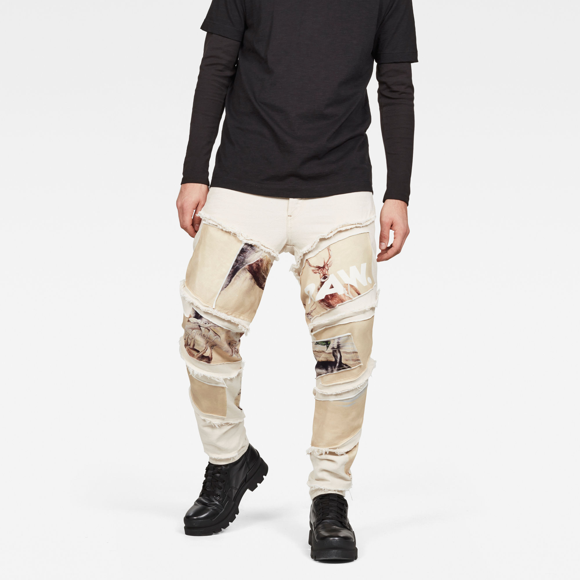 Image of G Star Raw Spiraq RFTP Patches Earth 3D Slim Jeans
