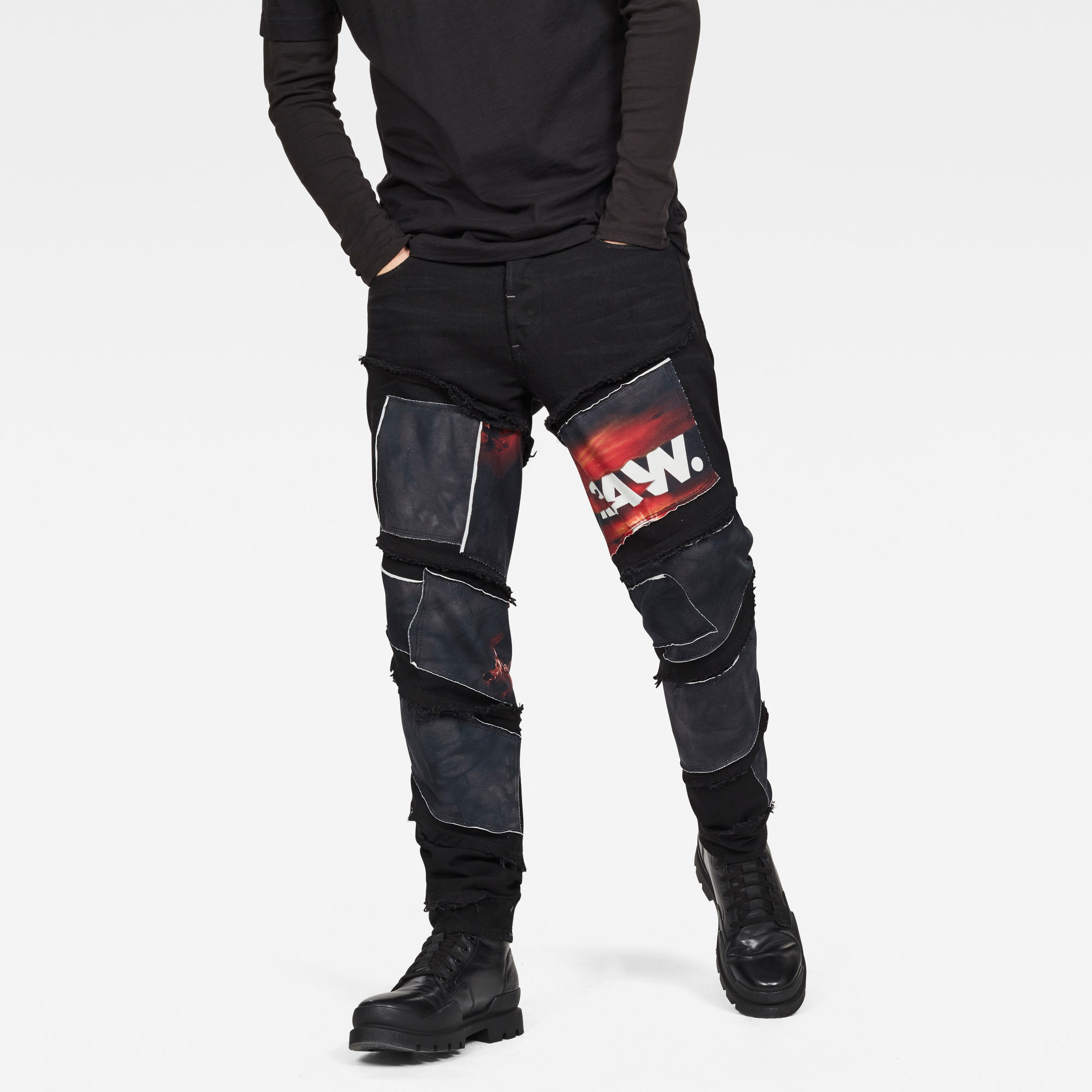 Image of G Star Raw Spiraq RFTP Patches Eclipse 3D Slim Jeans