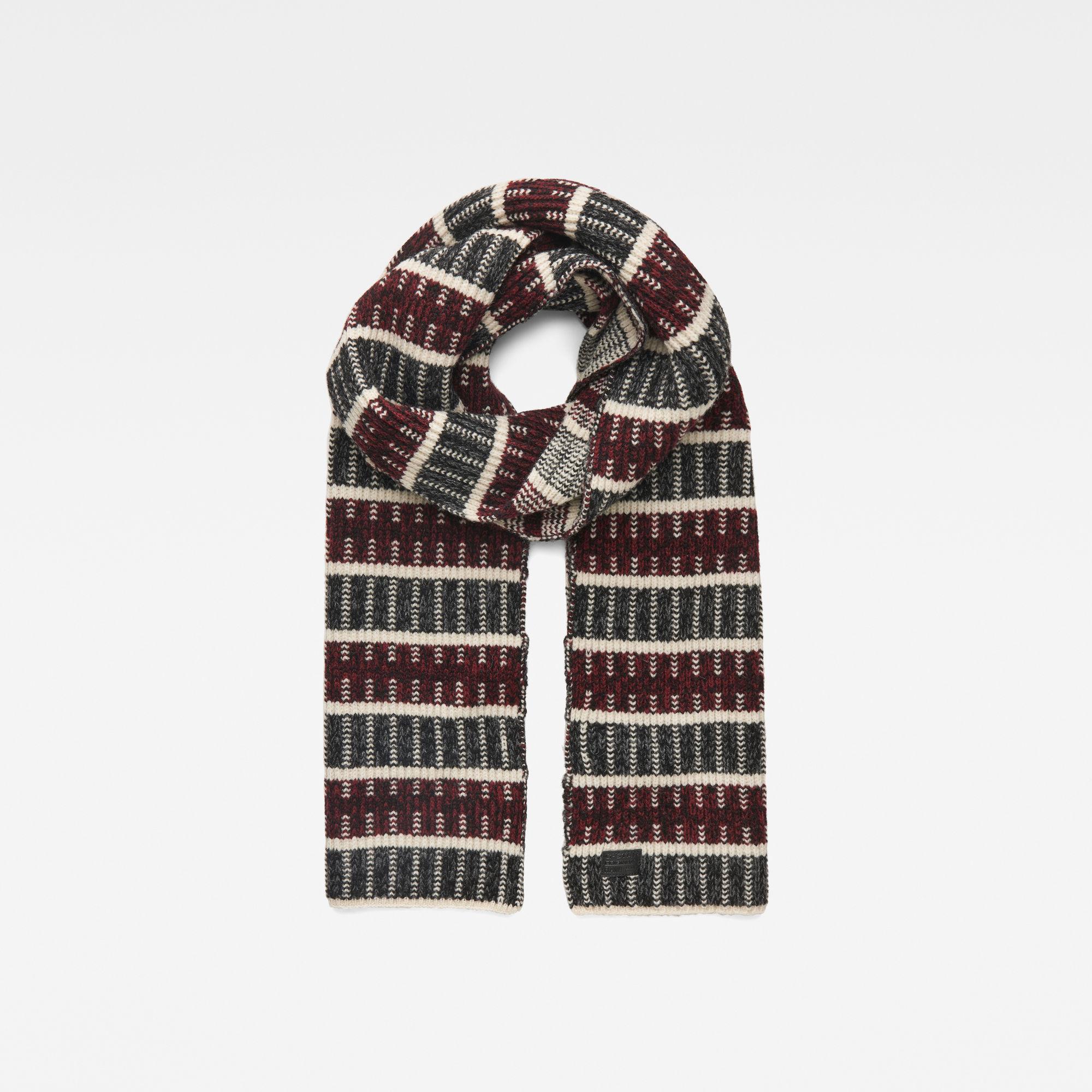Rib jacquard scarf