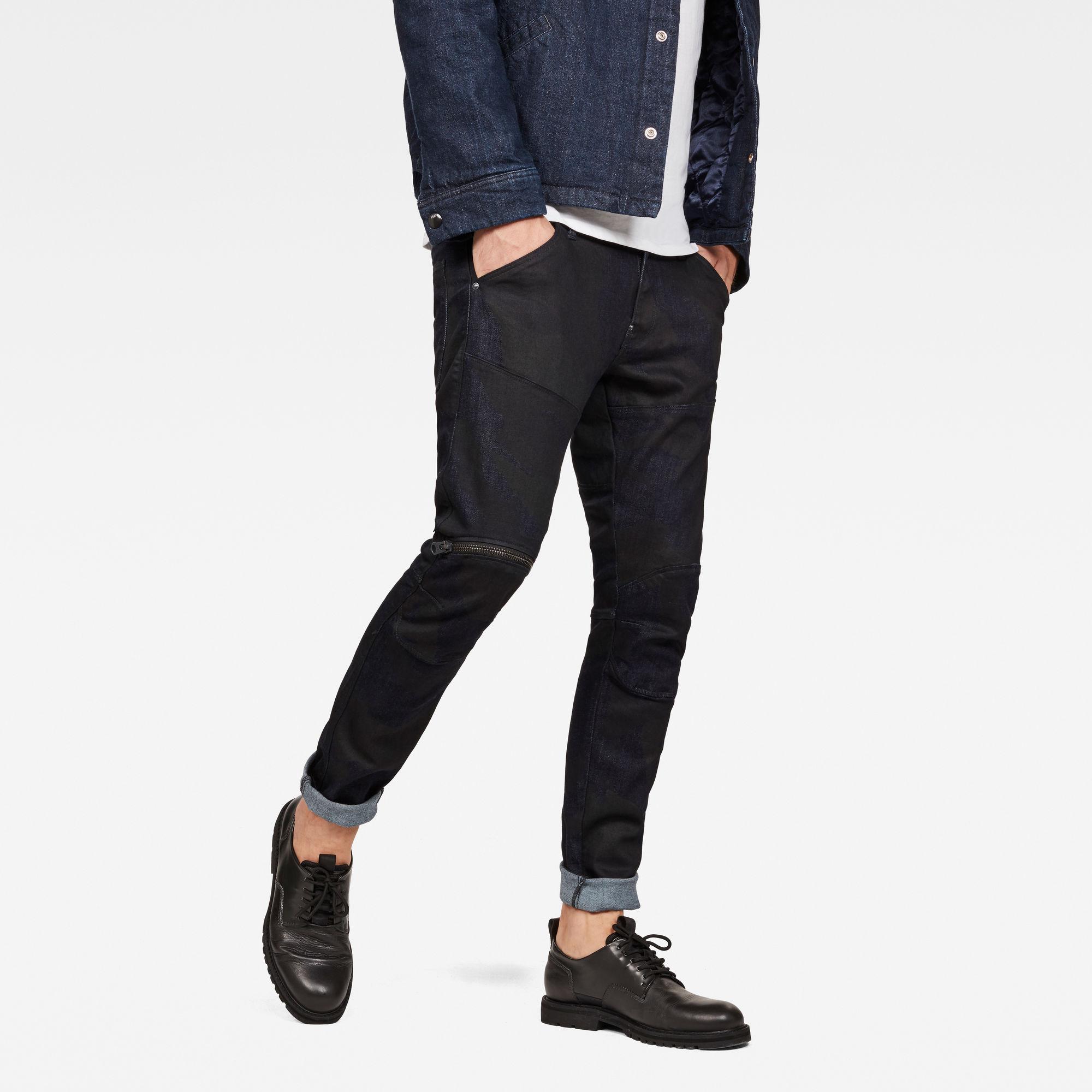 5622 G-Star Elwood 3D Zip Knee Skinny Jeans