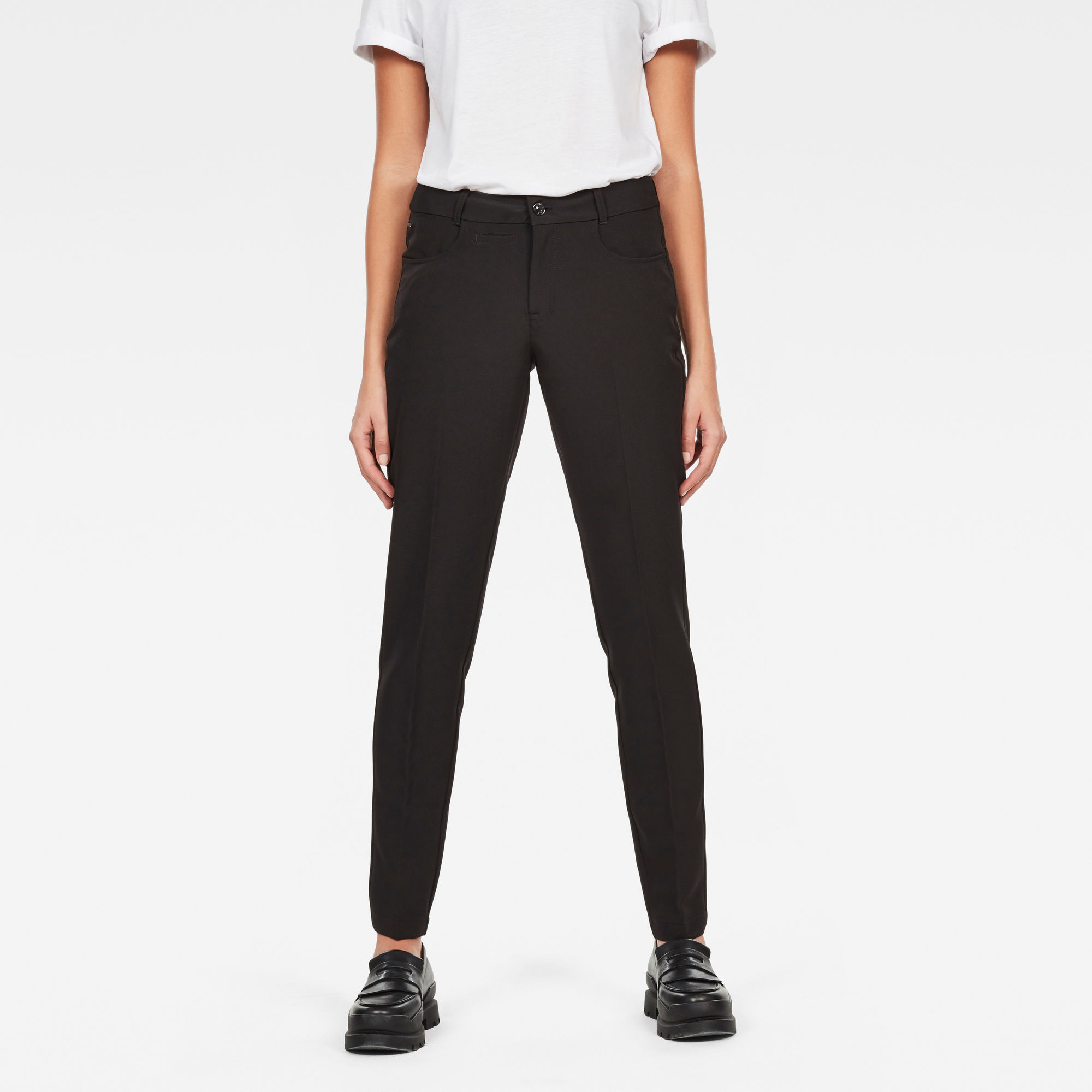 Image of G Star Raw D-Staq Mid Waist Skinny Ankle Chino