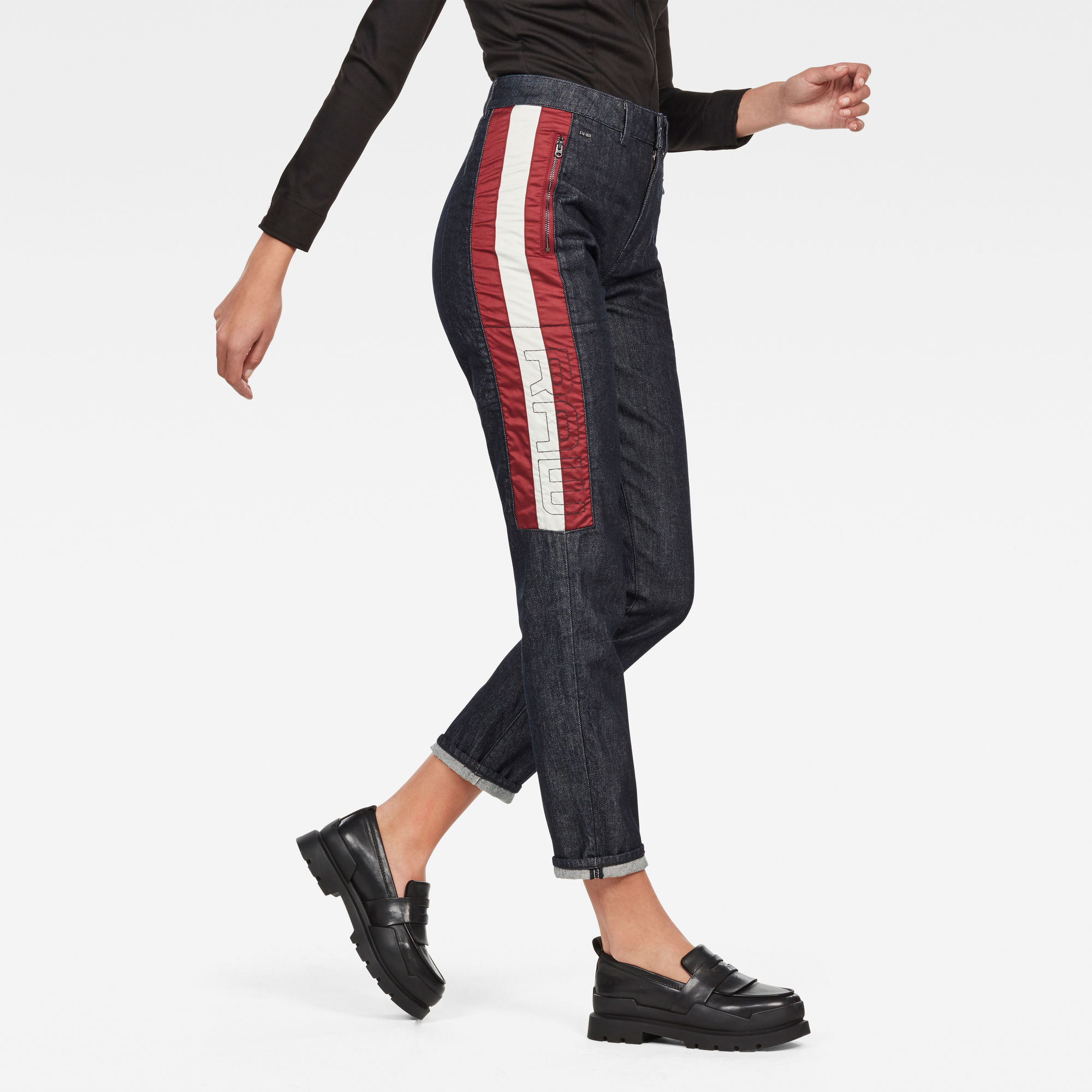 Image of G Star Raw 5621 Moto High Waist Straight Ankle Jeans