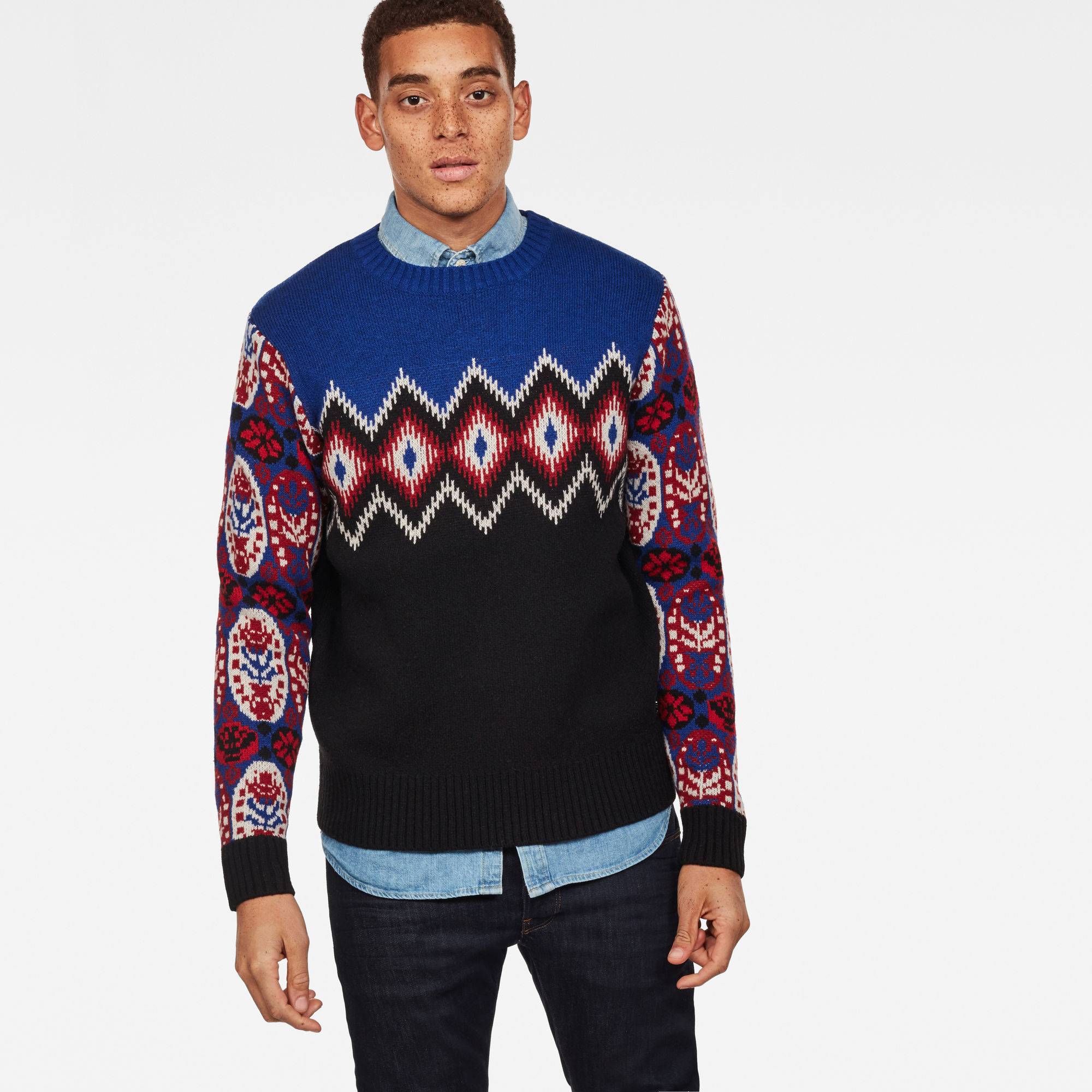 Image of G Star Raw Jayvi Jacquard Knit
