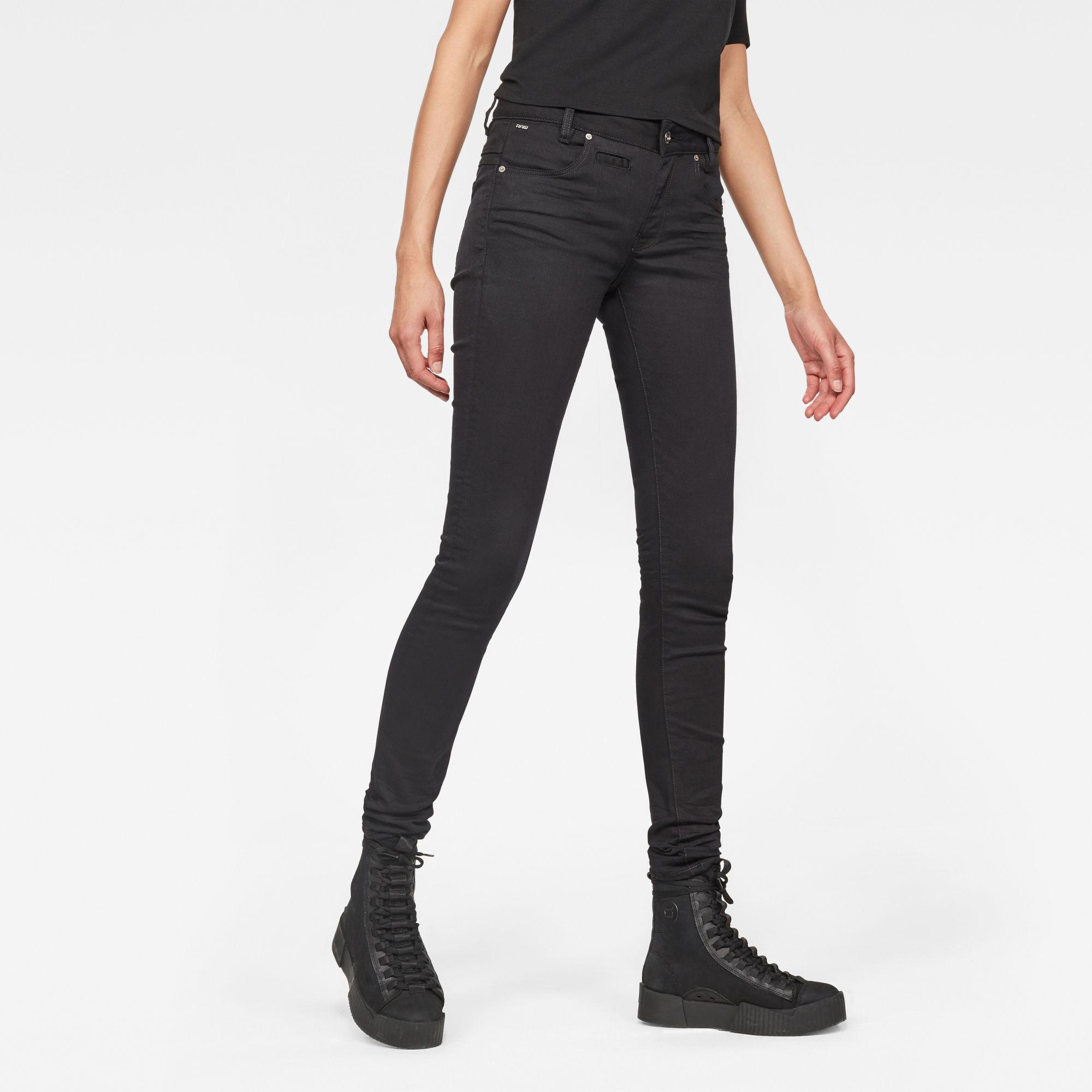 Image of G Star Raw D-Staq 5-Pocket Mid-Waist Skinny Jeans