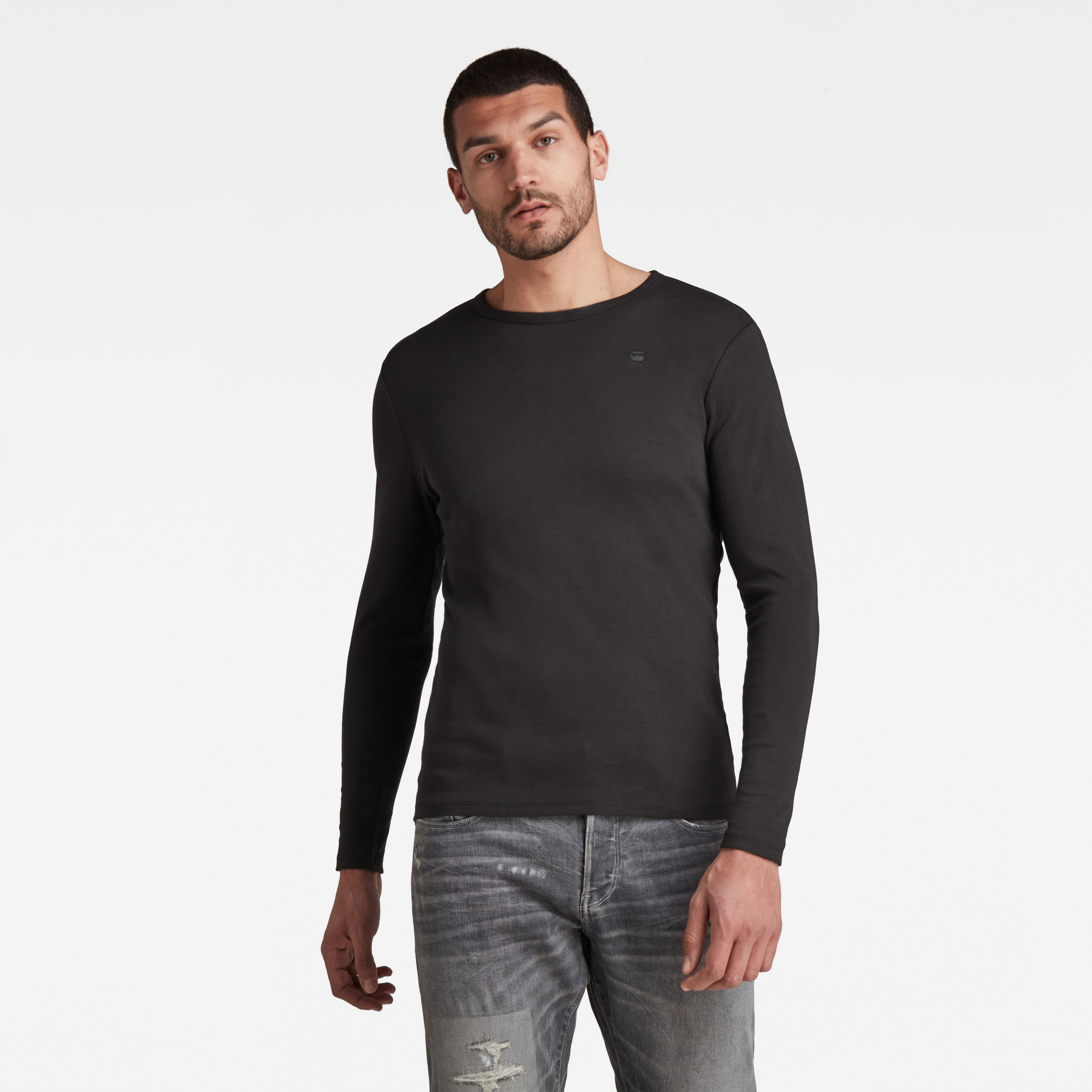 G Star Raw Base Round Neck Long Sleeve T-Shirt