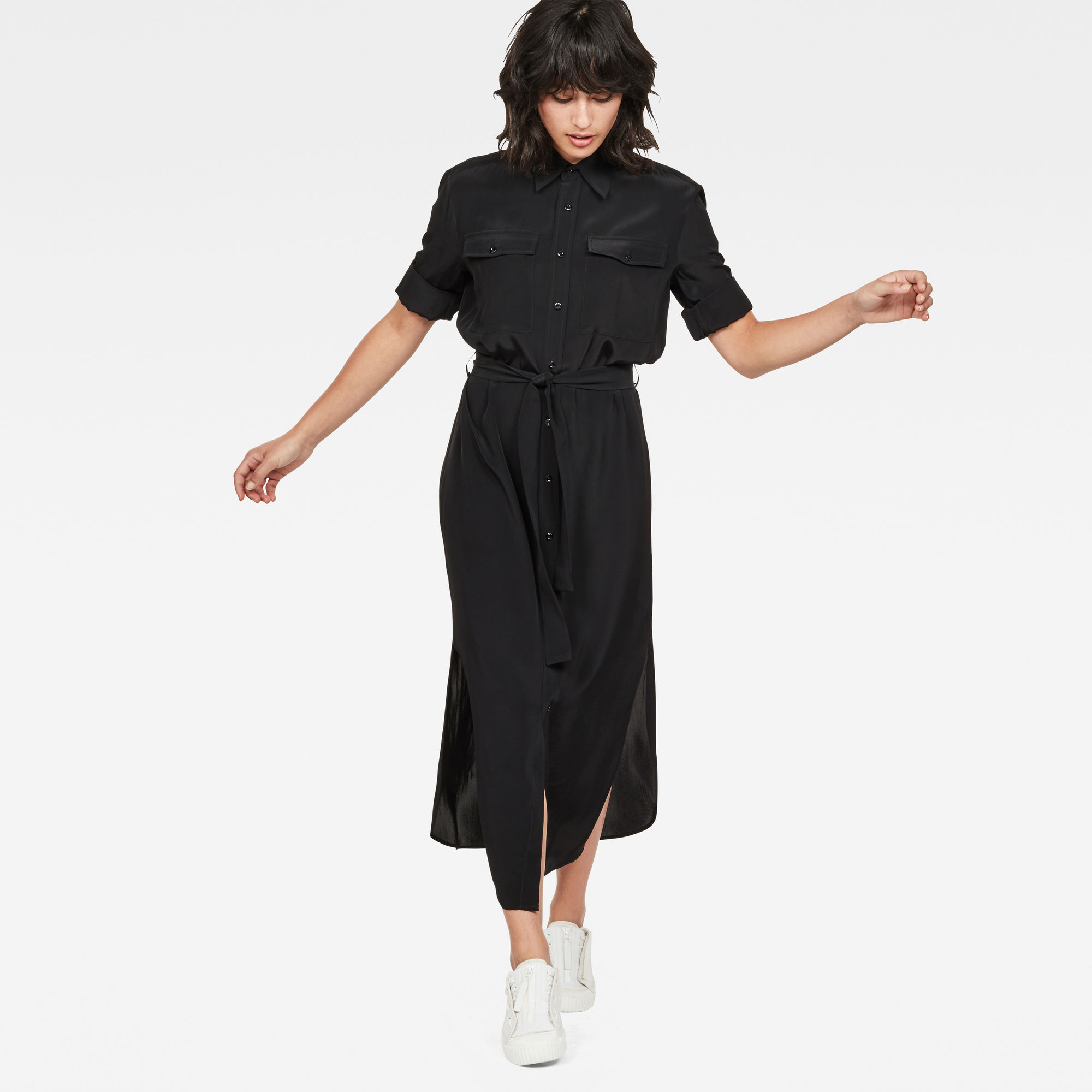 Image of G Star Raw Rovic Long Shirt Dress
