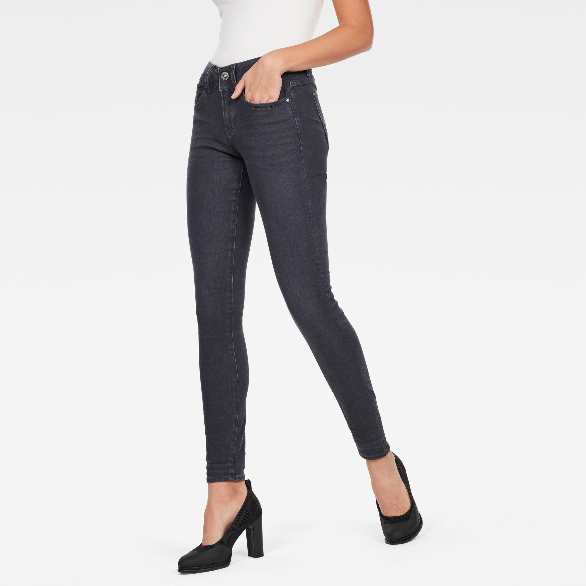 Image of G Star Raw Lynn Mid Waist Skinny Jeans