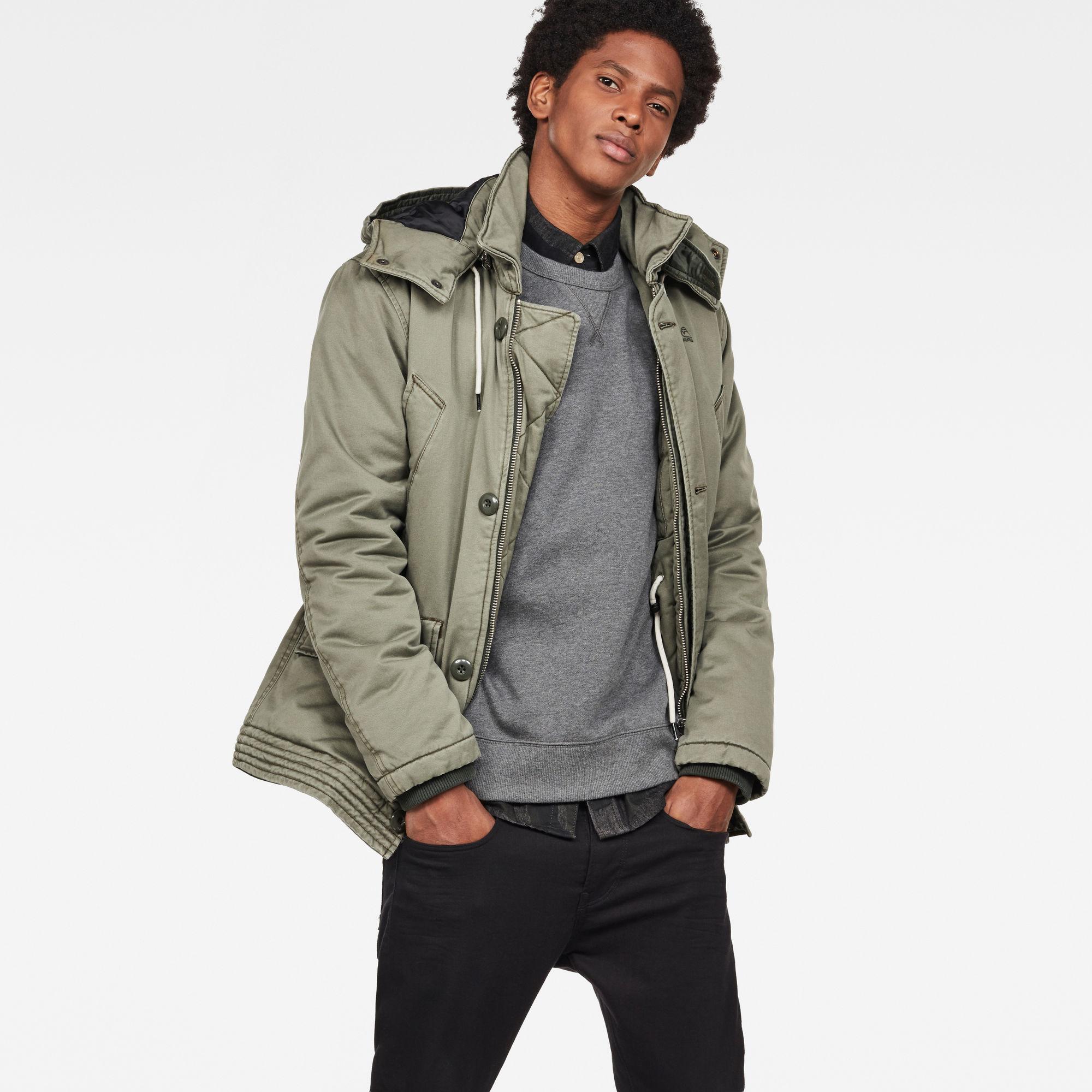 Image of G Star Raw Vodan Caban Hooded Padded Jacket