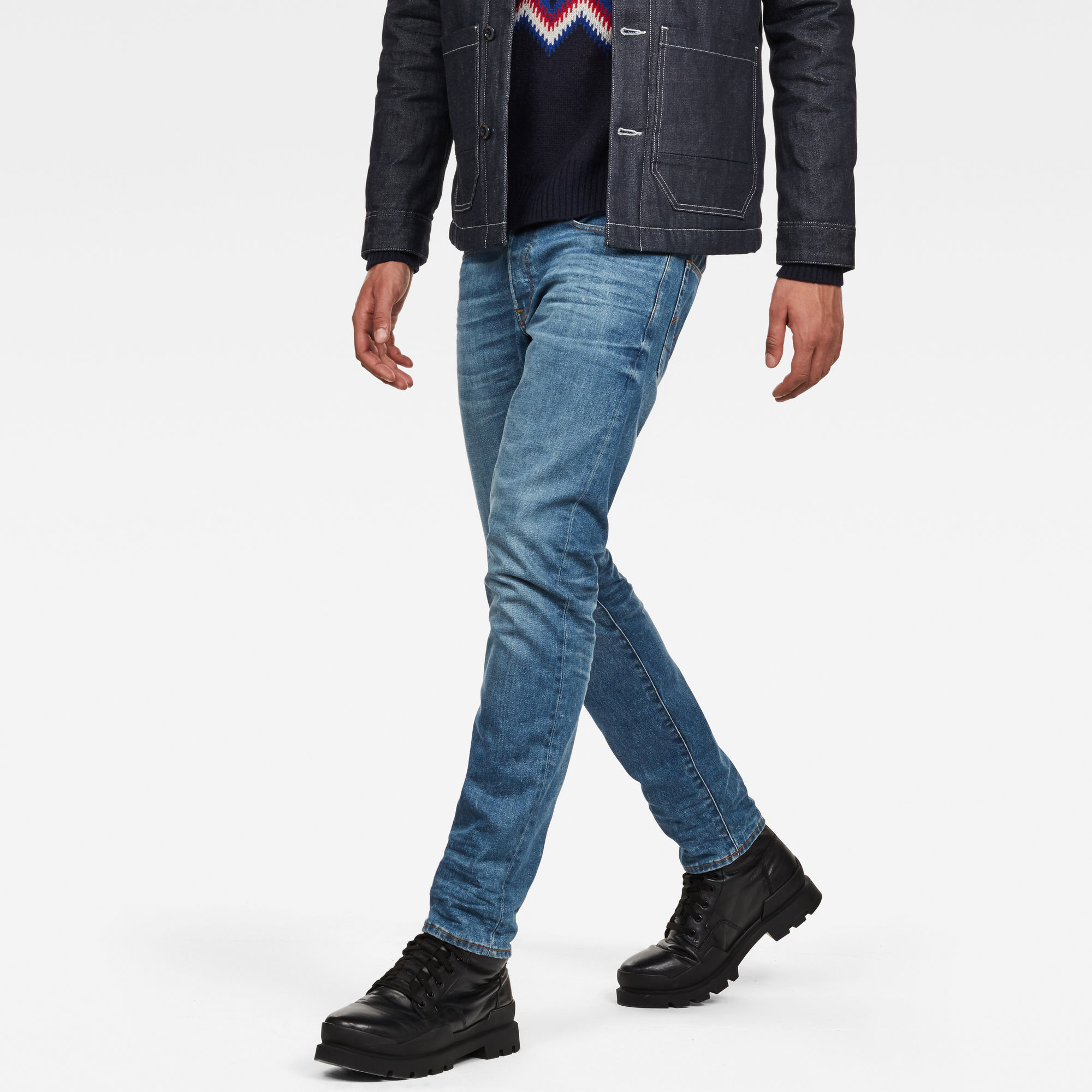 3301 Deconstructed Straight Tapered Jeans