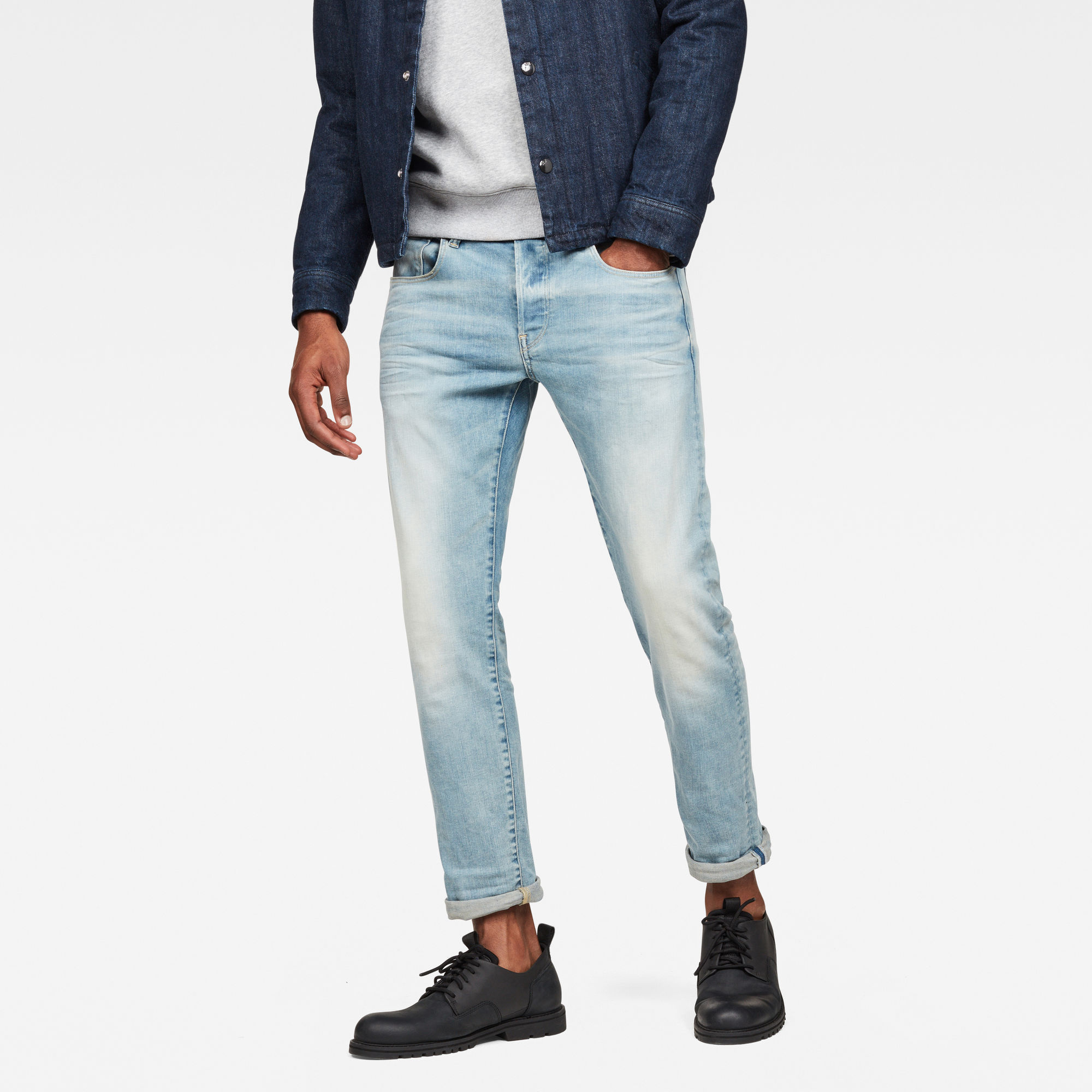 Image of G Star Raw 3301 Deconstructed Slim Jeans