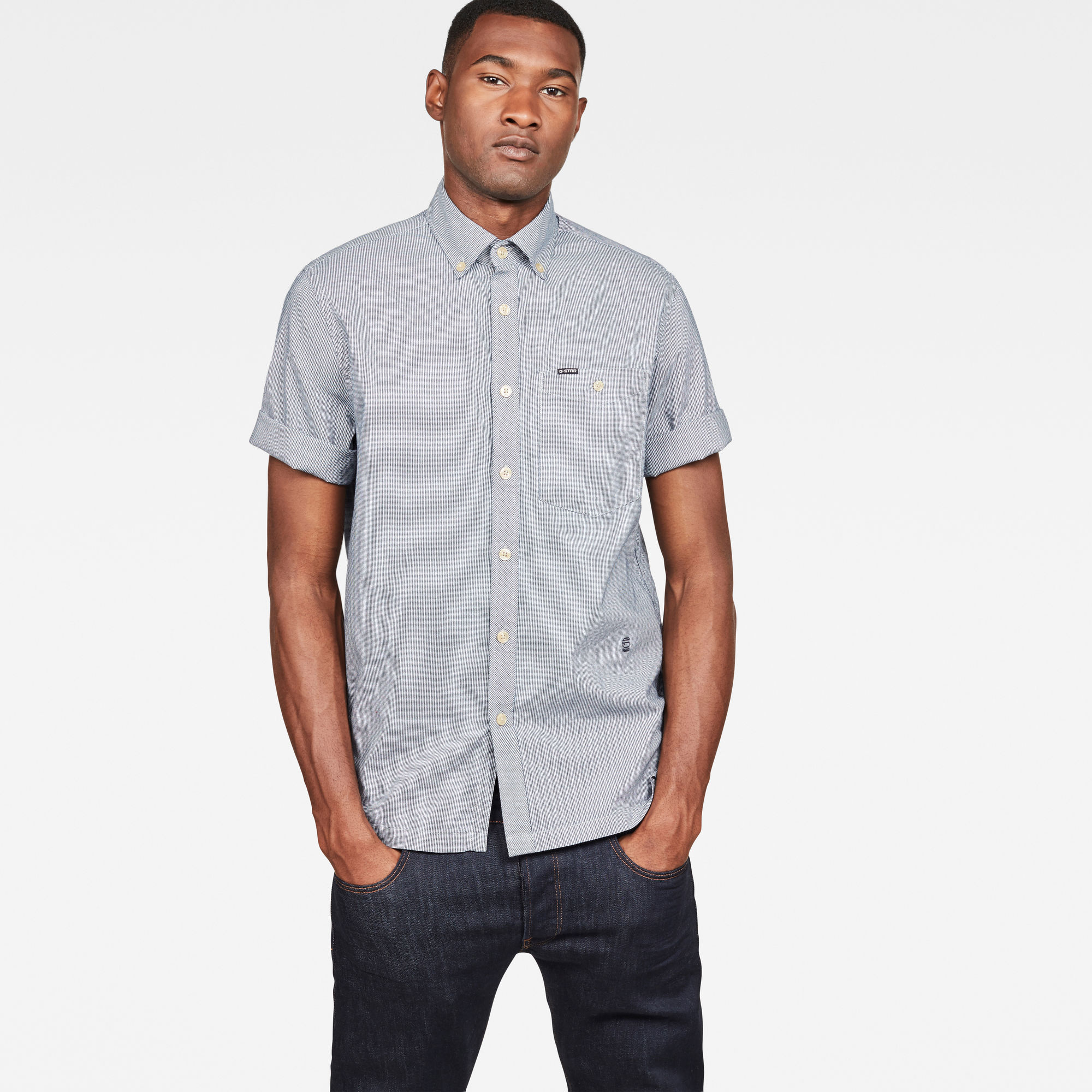 Image of G Star Raw Core Button Down 1 Pocket Straight Shirt