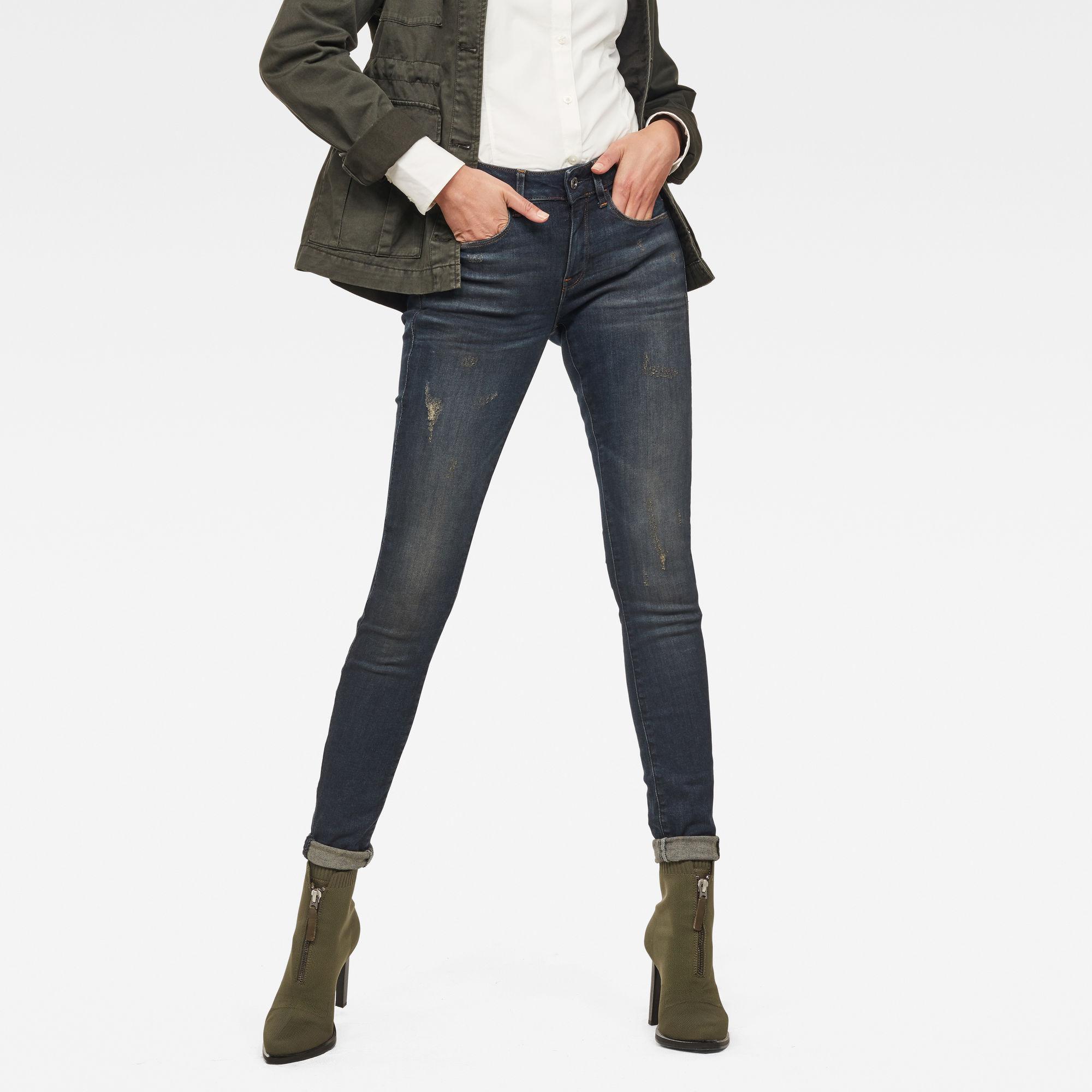 3301 Deconstucted Mid Waist Skinny Jeans