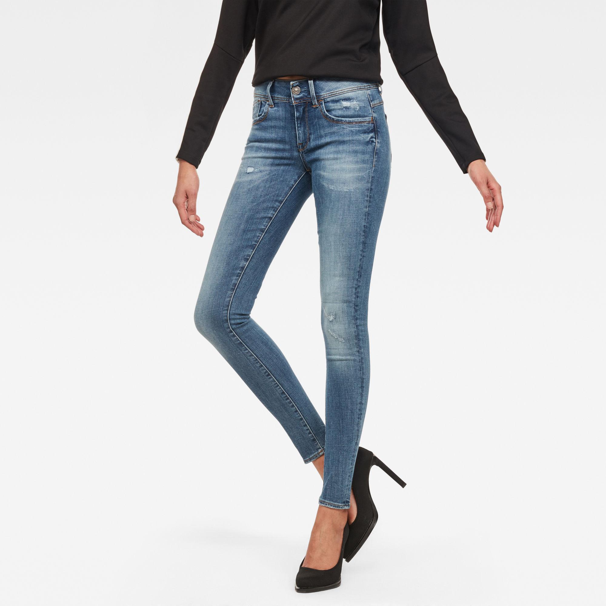 Image of G Star Raw Lynn D-Mid Waist Super Skinny Jeans