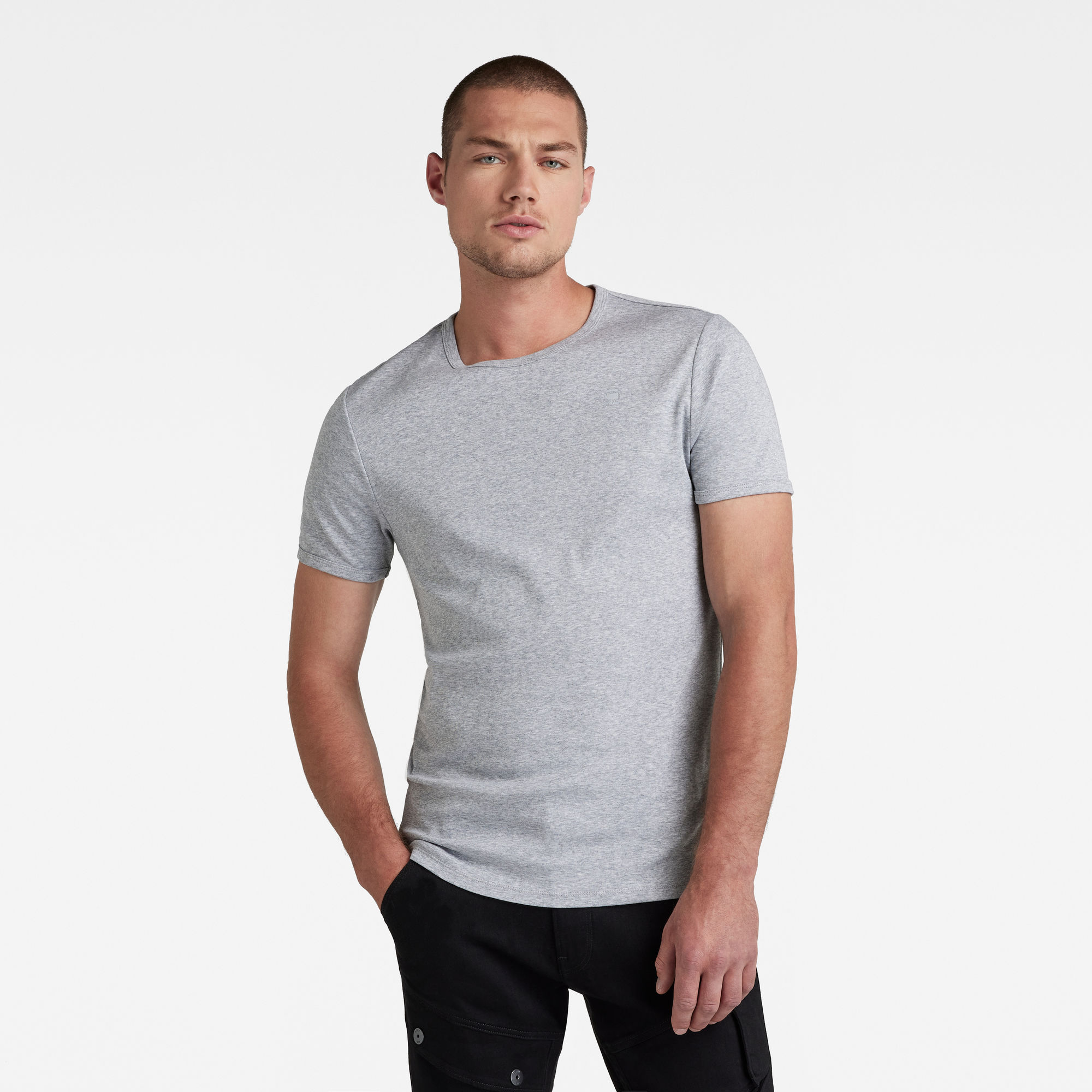 Image of G Star Raw Base Round Neck T-Shirt 2-Pack
