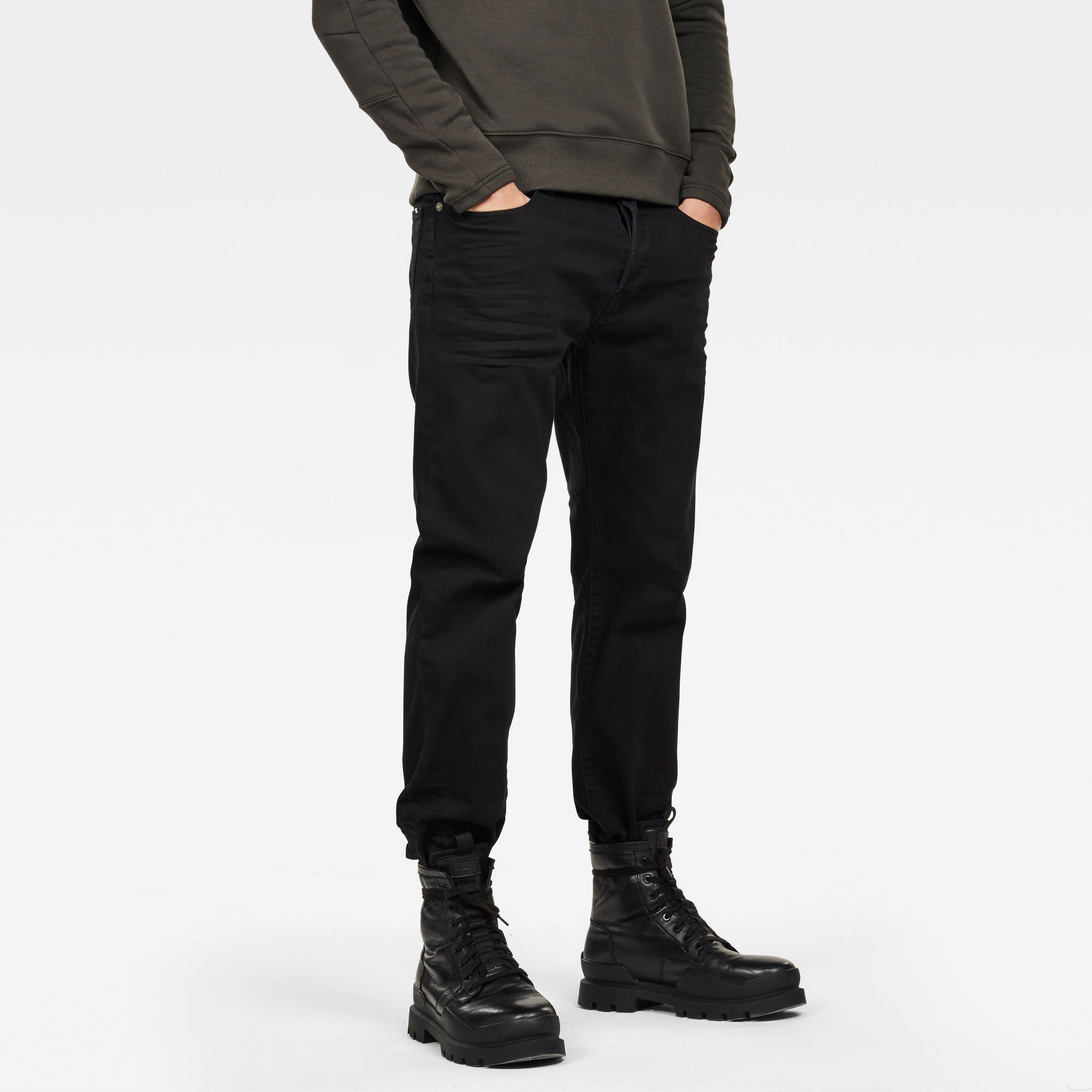 Image of G Star Raw 3301 Ann Cropped Loose Colored Jeans
