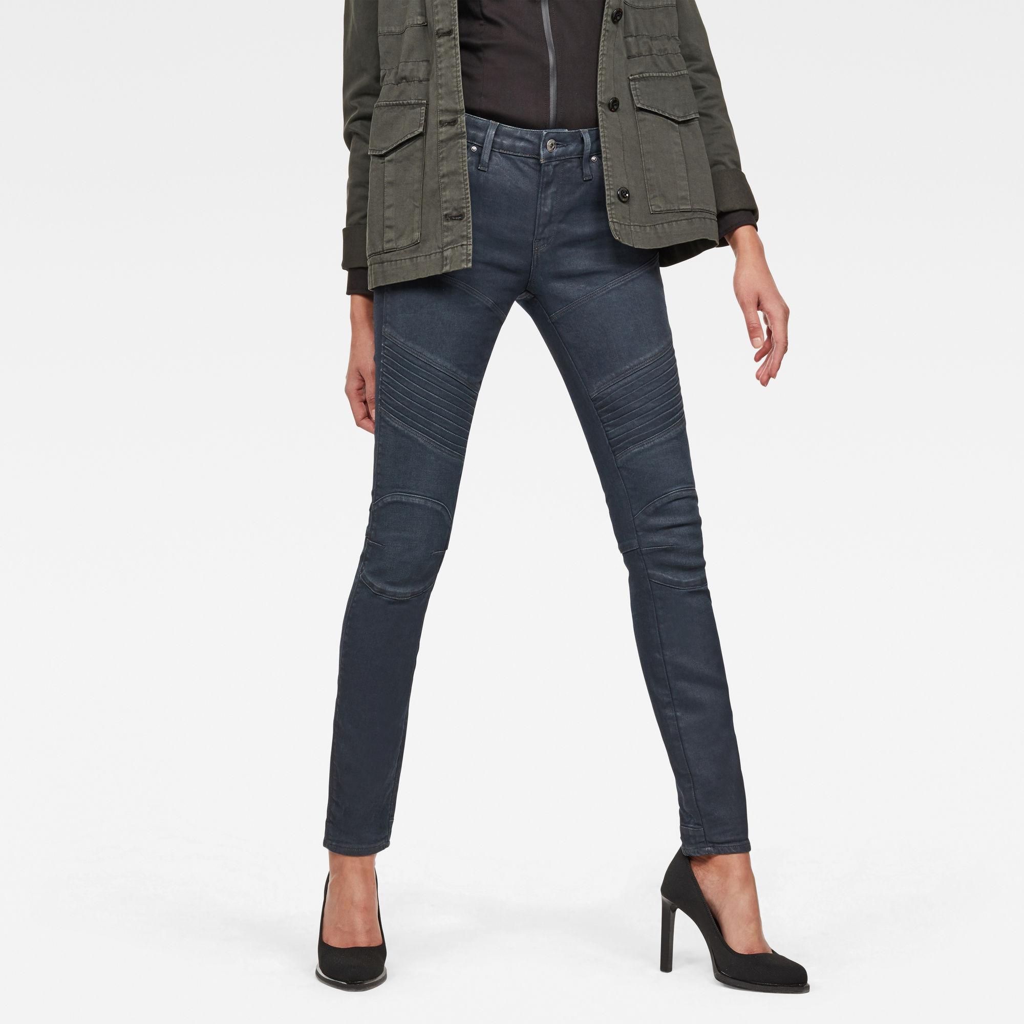 Image of G Star Raw 5620 G-Star Elwood Custom Mid Waist Skinny Jeans