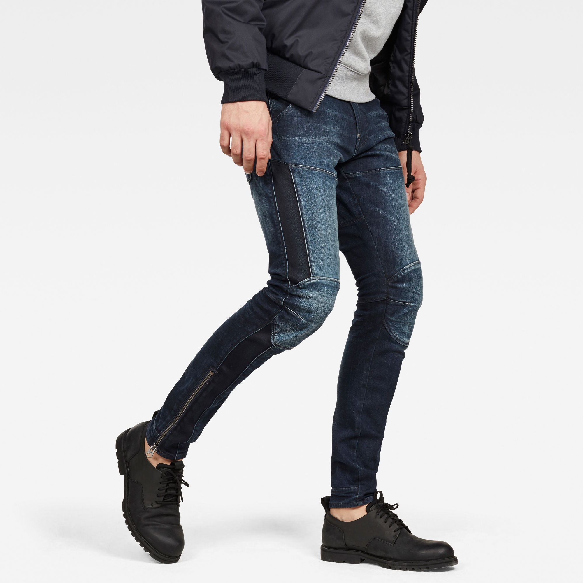 Image of G Star Raw 5620 G-Star Elwood 3D Ankle Zip Skinny Jeans