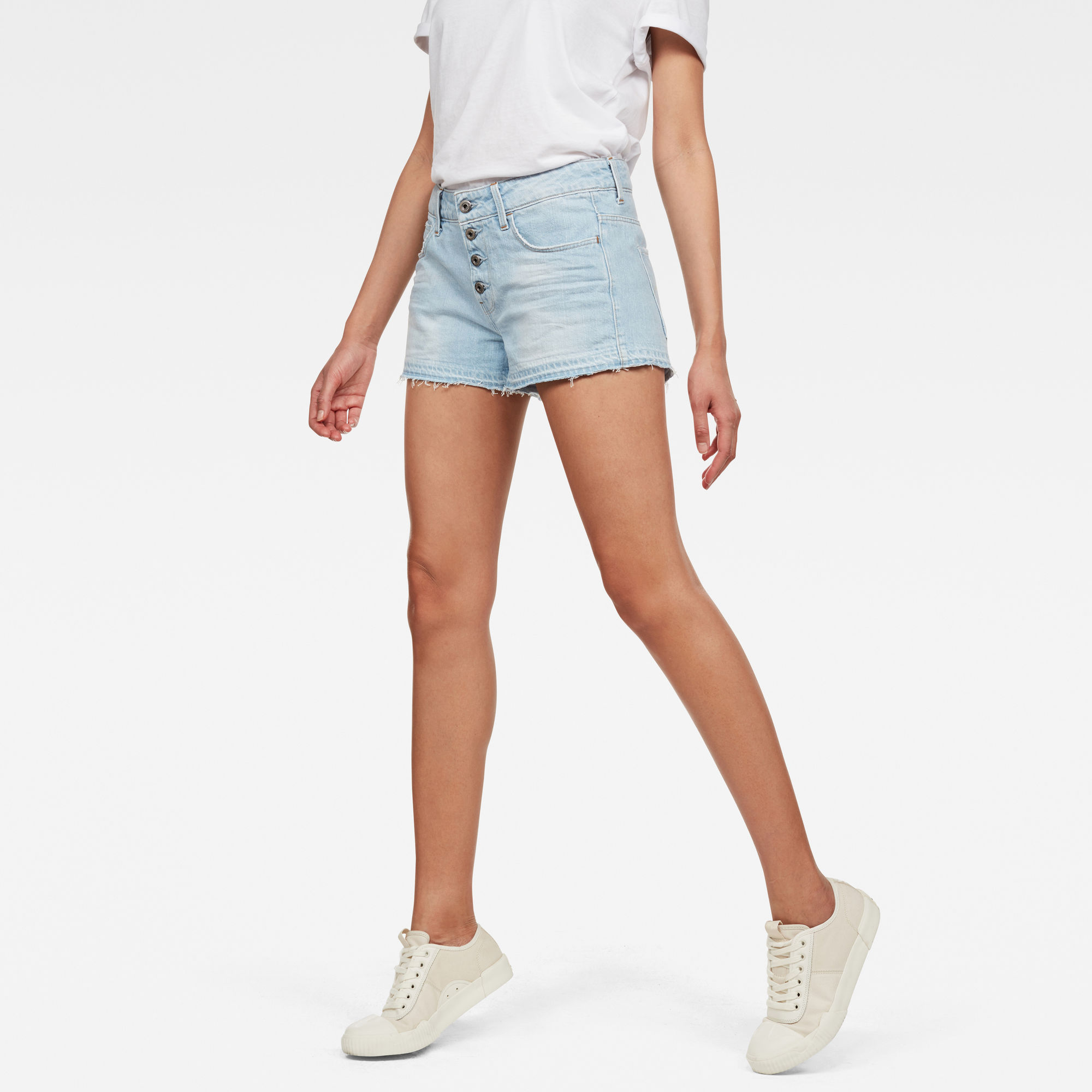 Image of G Star Raw Arc Button Down Ripped Shorts
