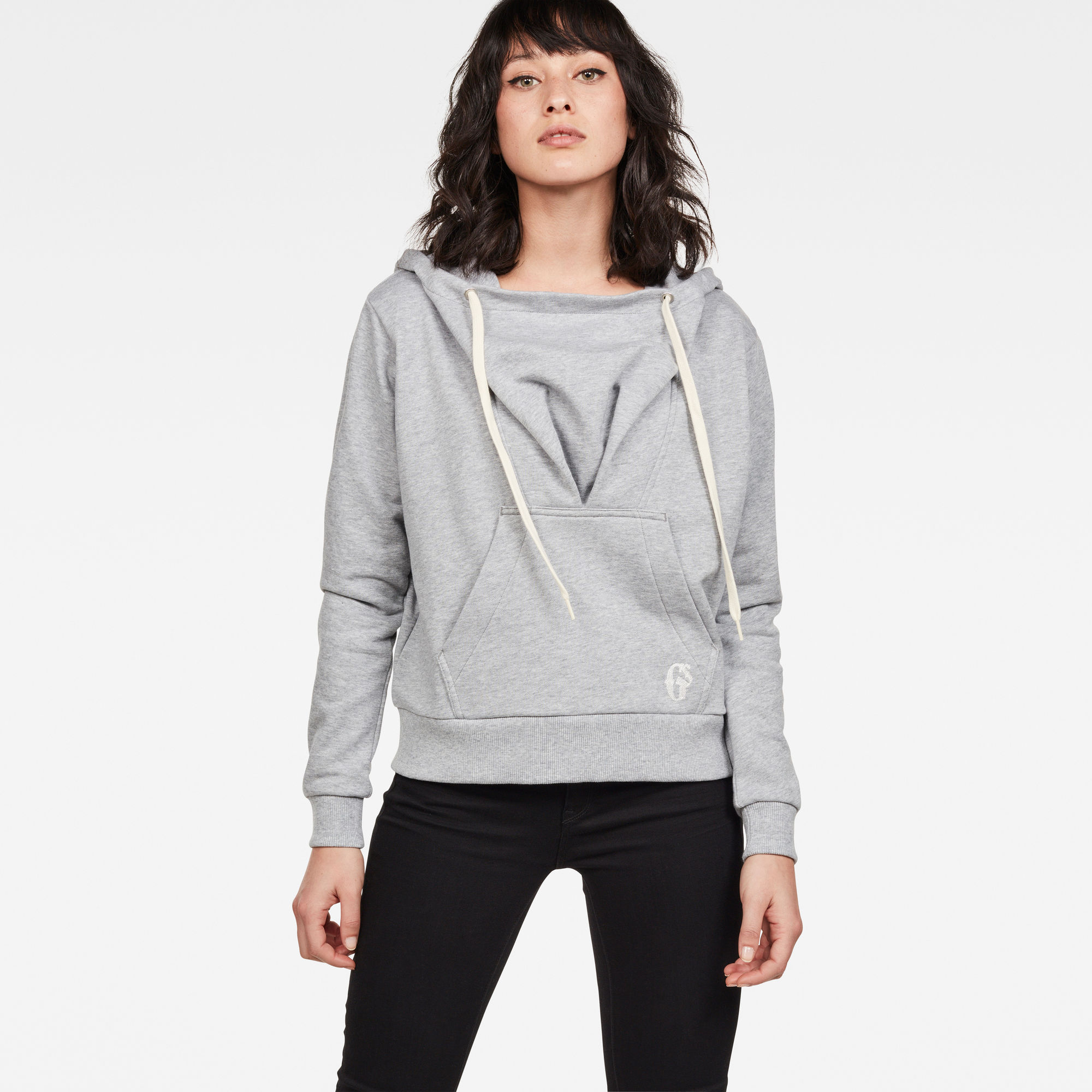 Image of G Star Raw Sofe Boyfriend Drape Hooded Sweat