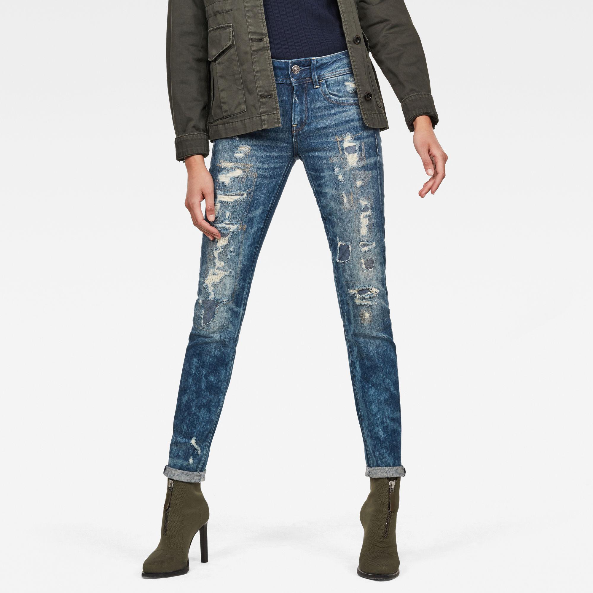 Image of G Star Raw Lynn Mid Waist Skinny Restored Jeans