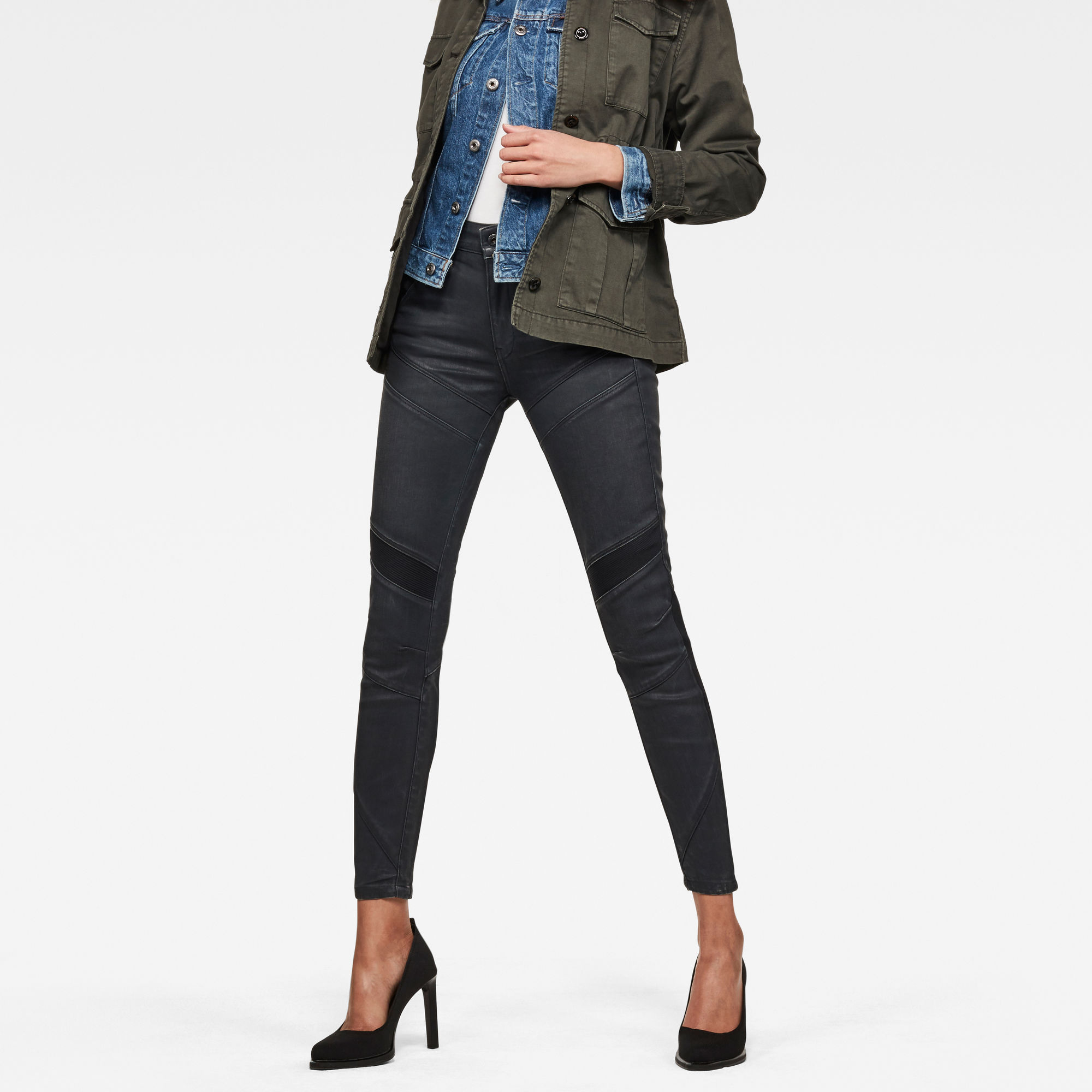 Image of G Star Raw Motac-X D-3D High Waist Skinny Ankle Jeans
