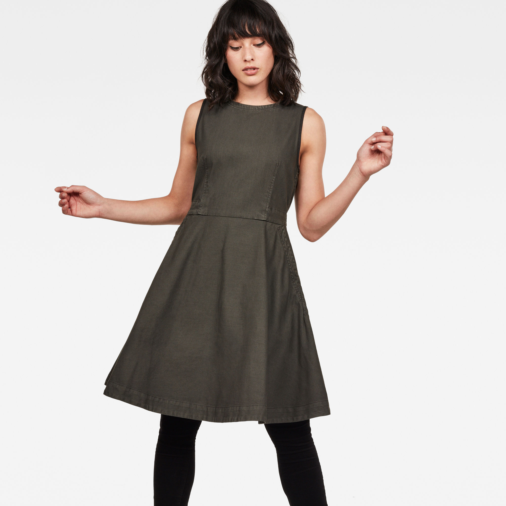 Image of G Star Raw Core Fit And Flare Dress