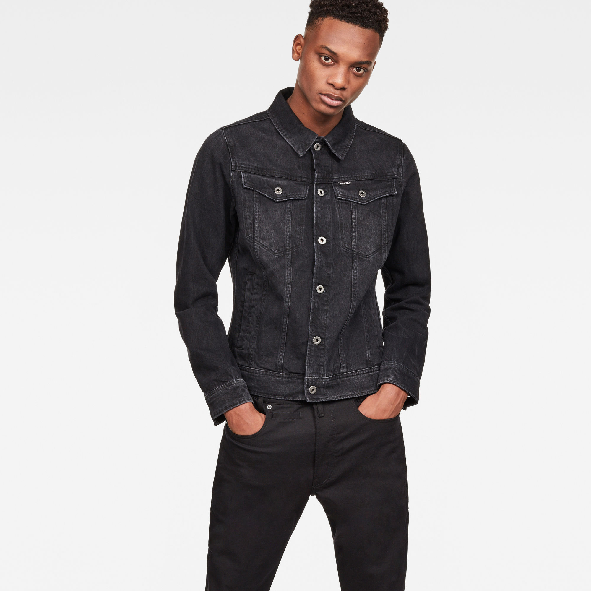 Image of G Star Raw 3301 Deconstructed 3D Slim Jacket