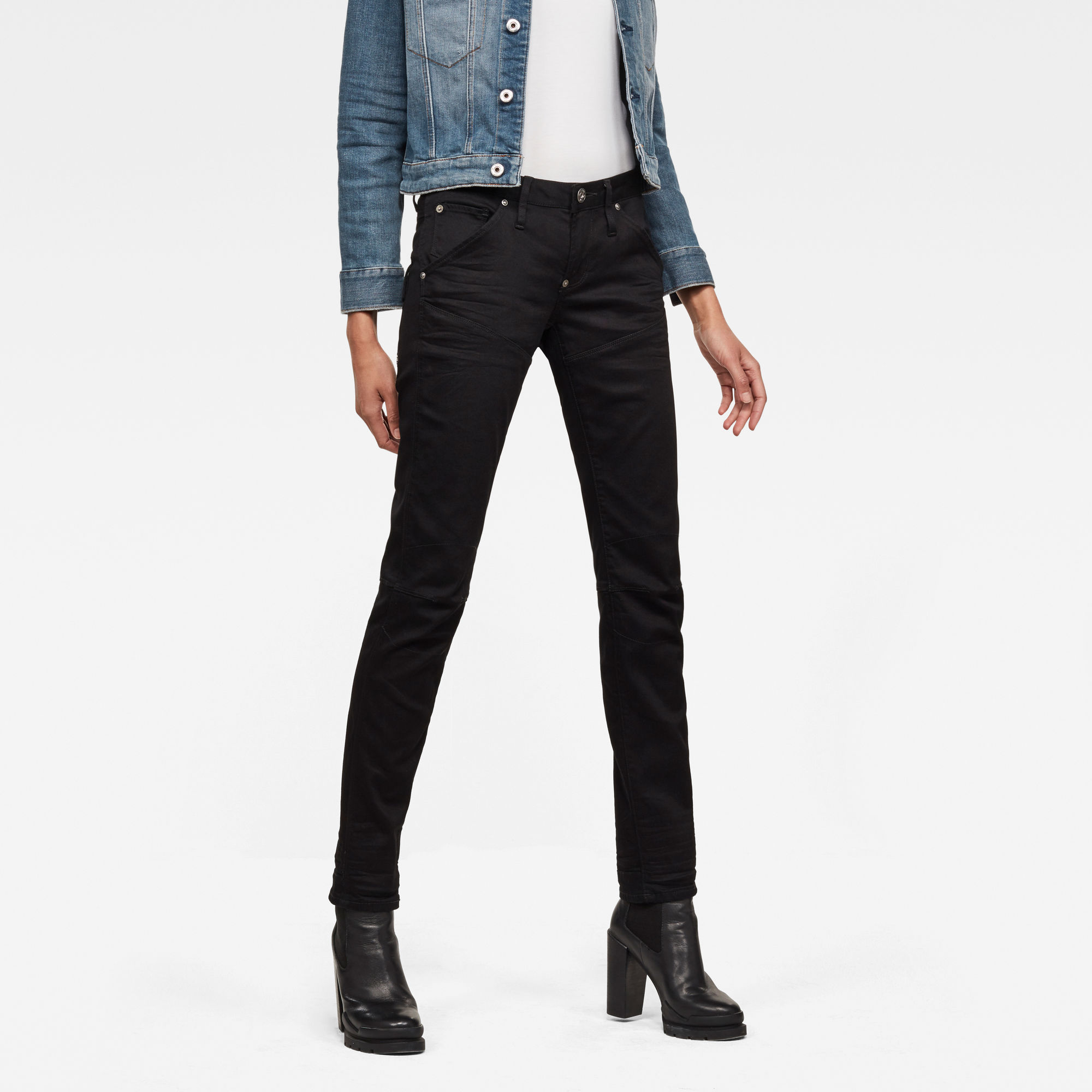 Image of G Star Raw 5620 G-Star Elwoodd Heritage Ann Embro Tapered Jeans