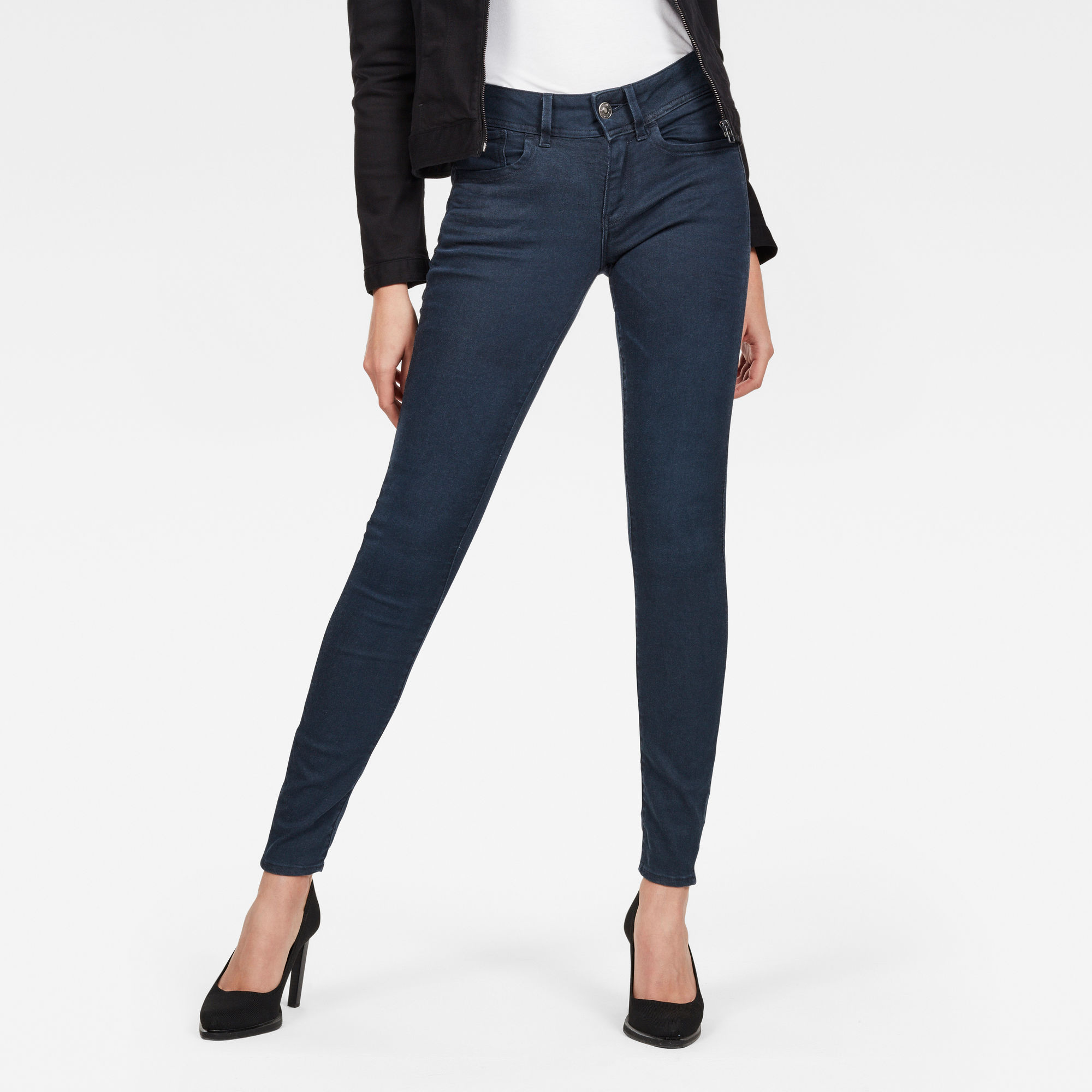 Image of G Star Raw Lynn Mid Waist Skinny Colored Jeans
