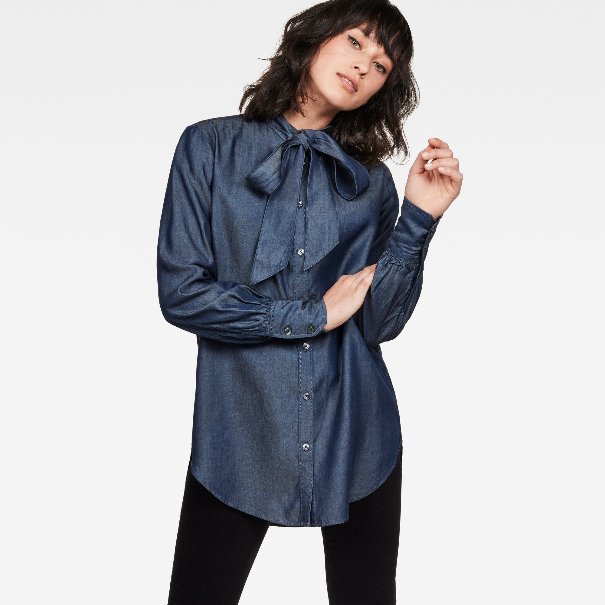 Image of G Star Raw Deline Boyfriend Bow Blouse