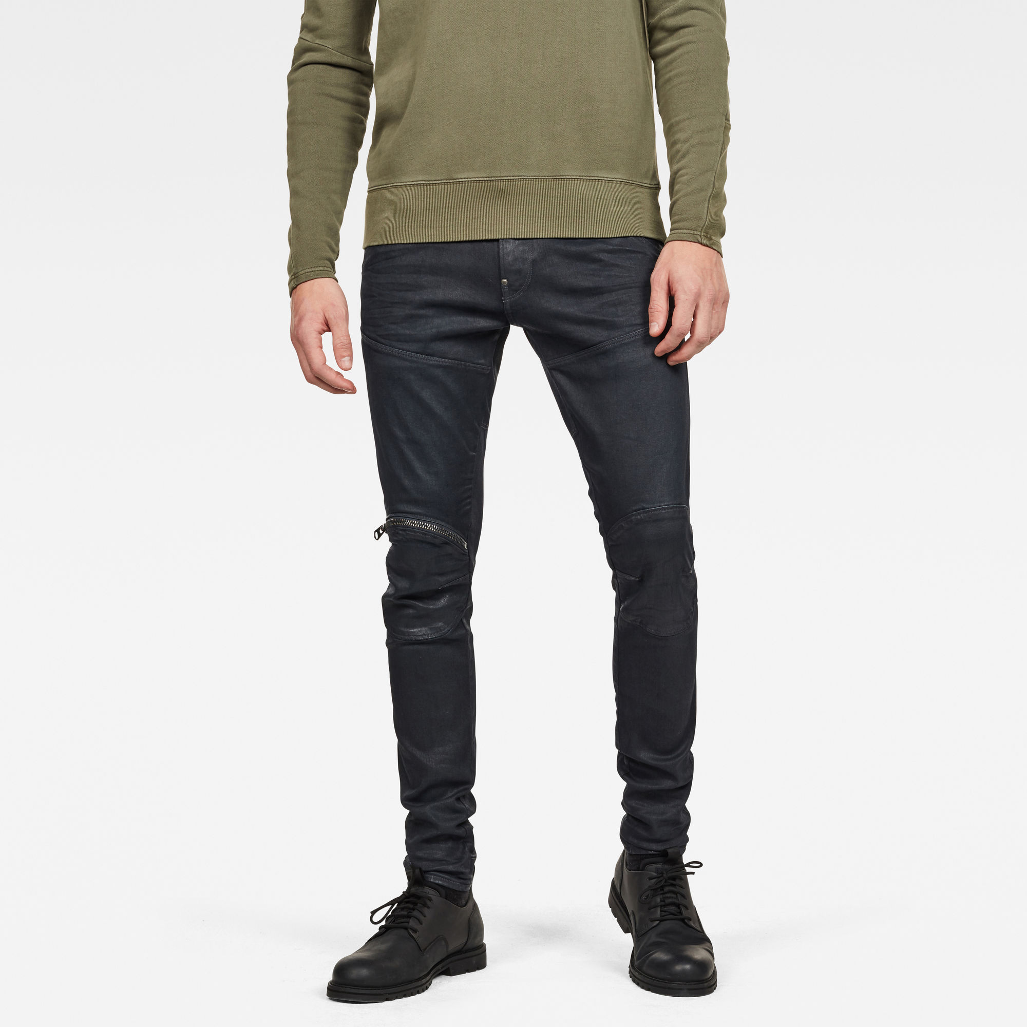 5620 G-Star Elwood 3D Zip Knee Skinny Jeans