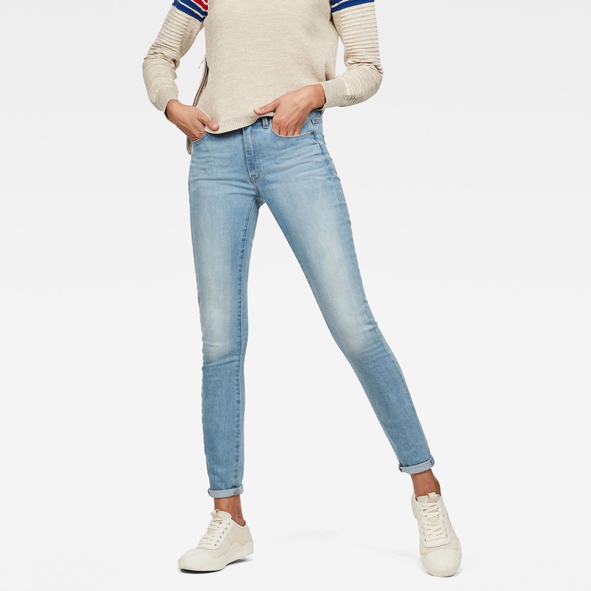 Image of G Star Raw 3301 High Waist Skinny Jeans