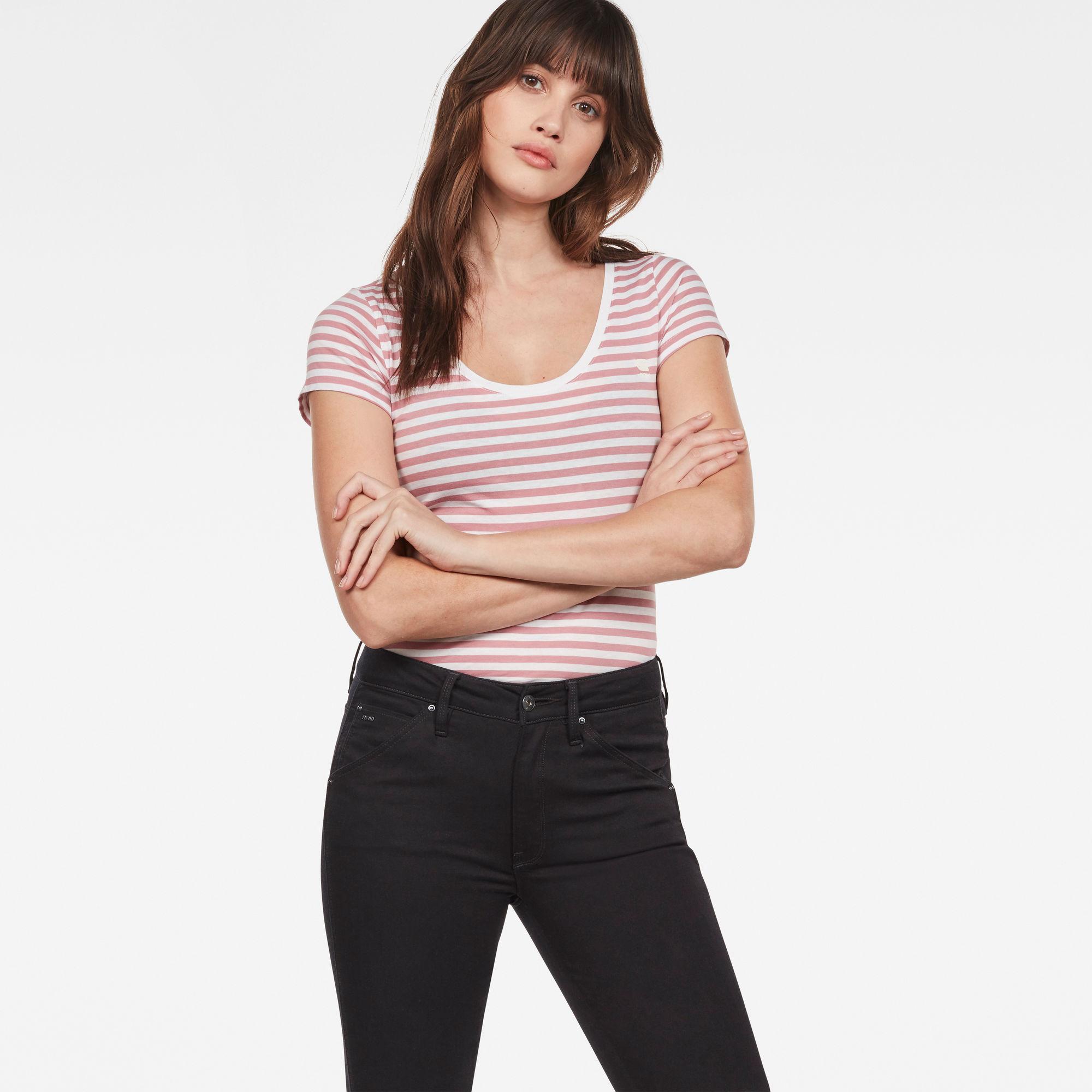 Image of G Star Raw Base Stripe Slim T-Shirt