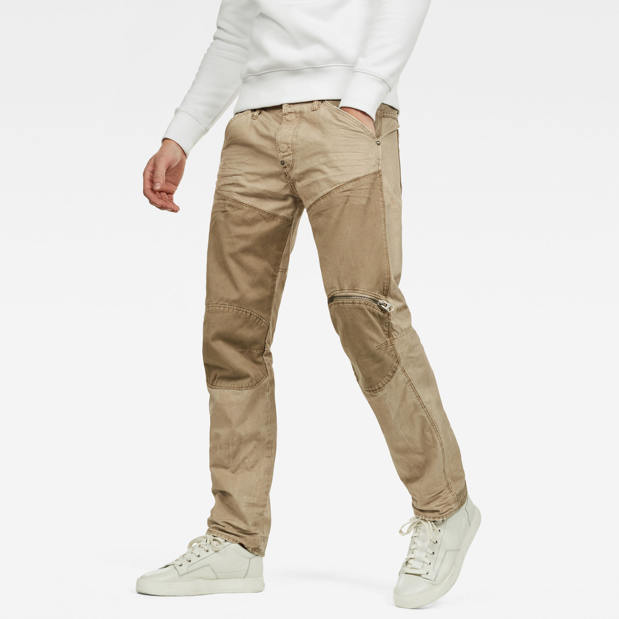 Image of G Star Raw 5620 G-Star Elwood Workwear 3D Zip Straight Trousers