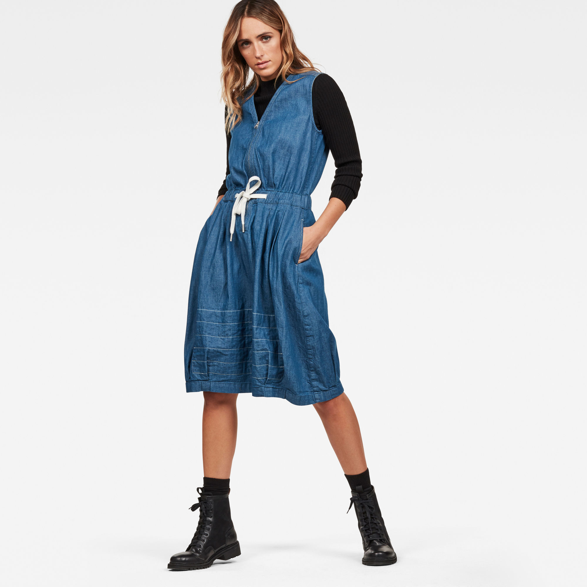 Image of G Star Raw Parachute Sleeveless Dress