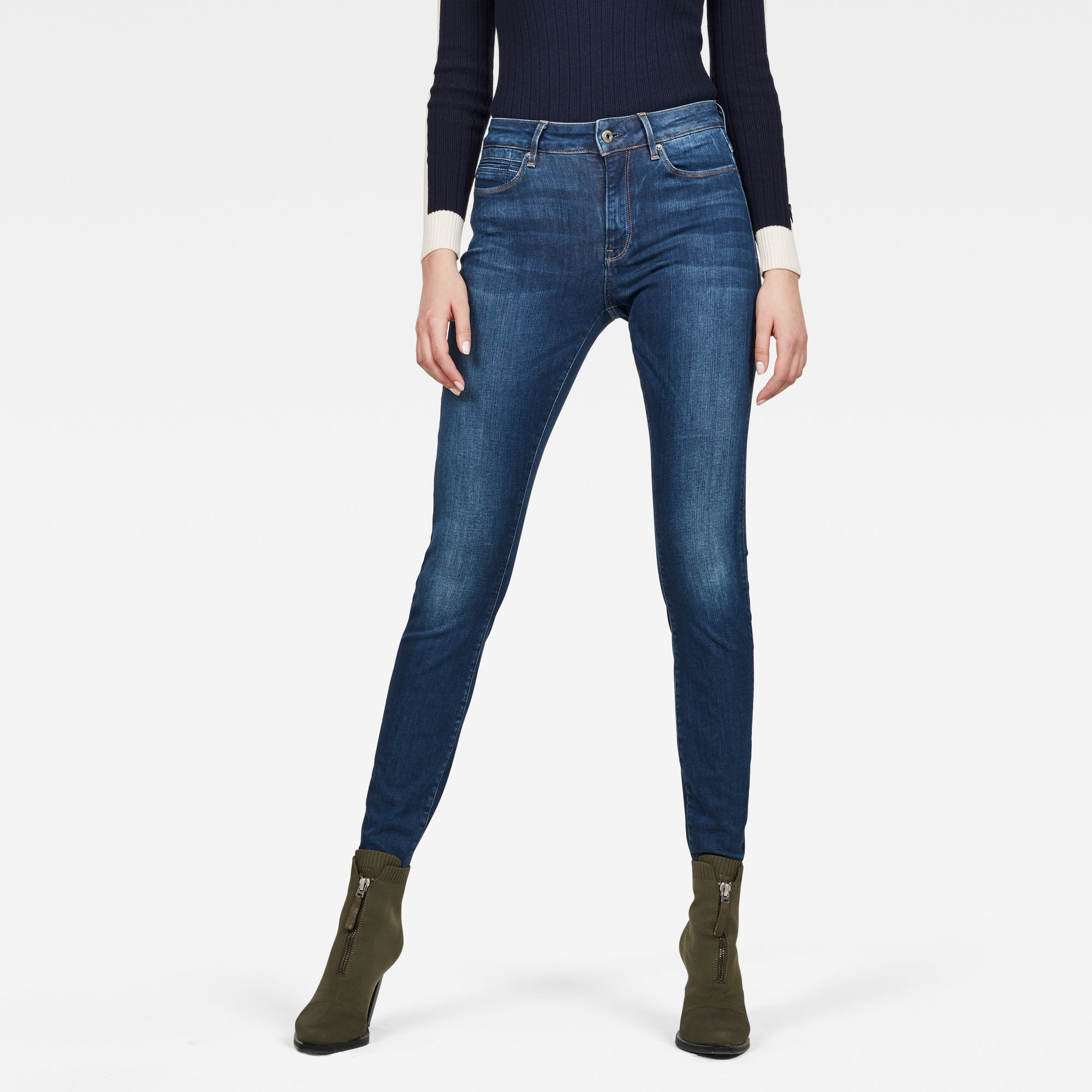 Image of G Star Raw G-Star Shape High Waist Super Skinny Jeans