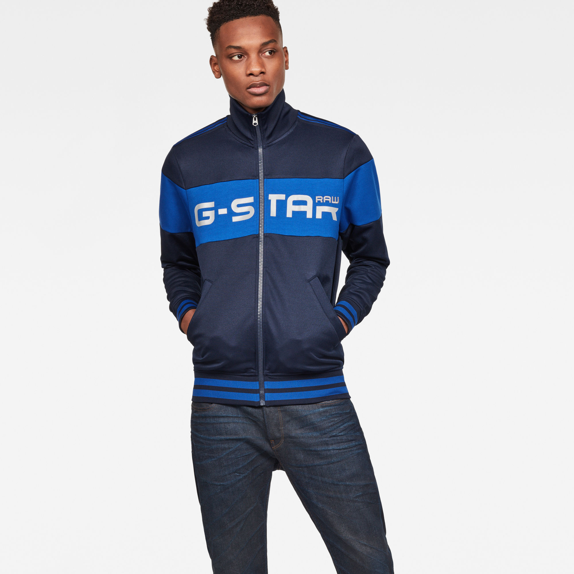Image of G Star Raw Alchesai Slim Tracktop Sweat