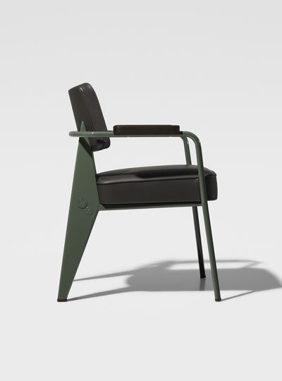 Prouv_ RAW Office Edition Fauteuil Direction - Cuir 1951 (glides for carpet)