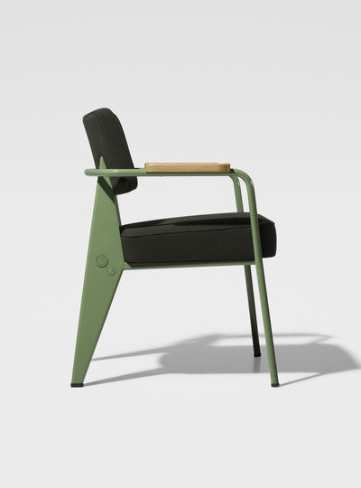 Prouvé RAW Office Edition Fauteuil Direction - Tissu 1951 (glides for carpet)