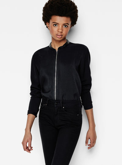Core Zip Boyfriend Shirt