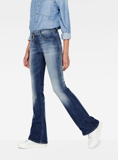 Lynn Zip High Waist Flare Jeans