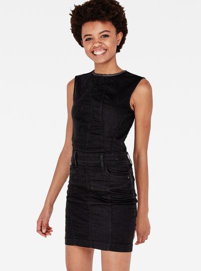 Lynn Jet Slim Zip Dress