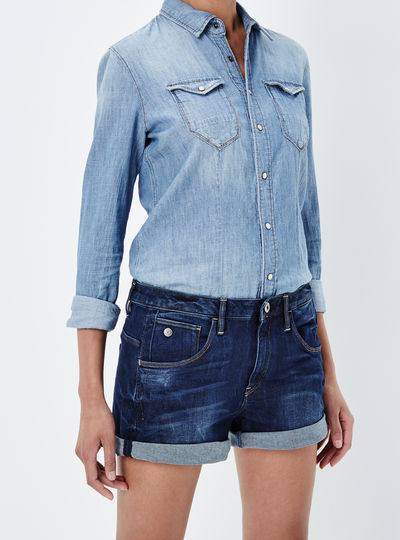 Arc Low Waist Boyfriend Shorts