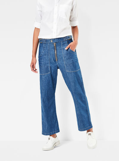 RAW Utility Zip 3D Loose Jeans