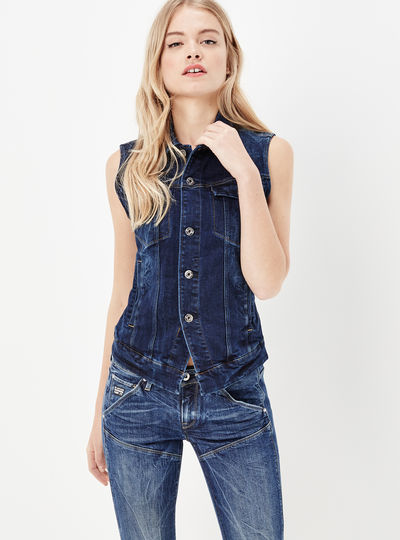 3301 Sleeveless Denim Jacket